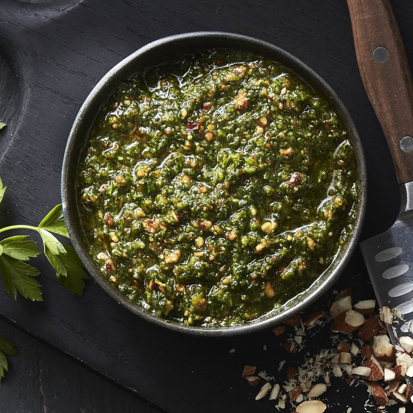 Almond Parsley Pesto