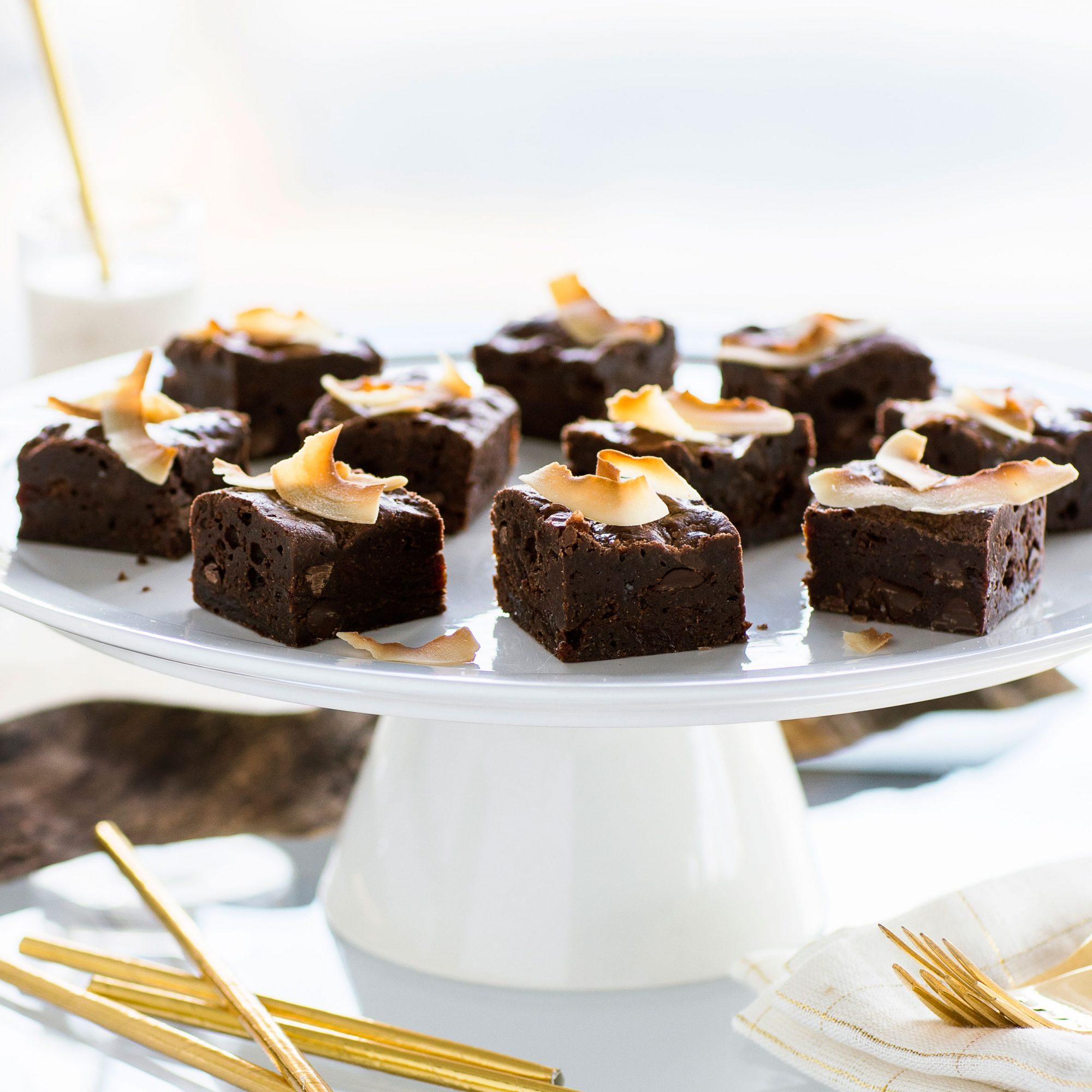 Chocolate Cherry Coconut Brownies