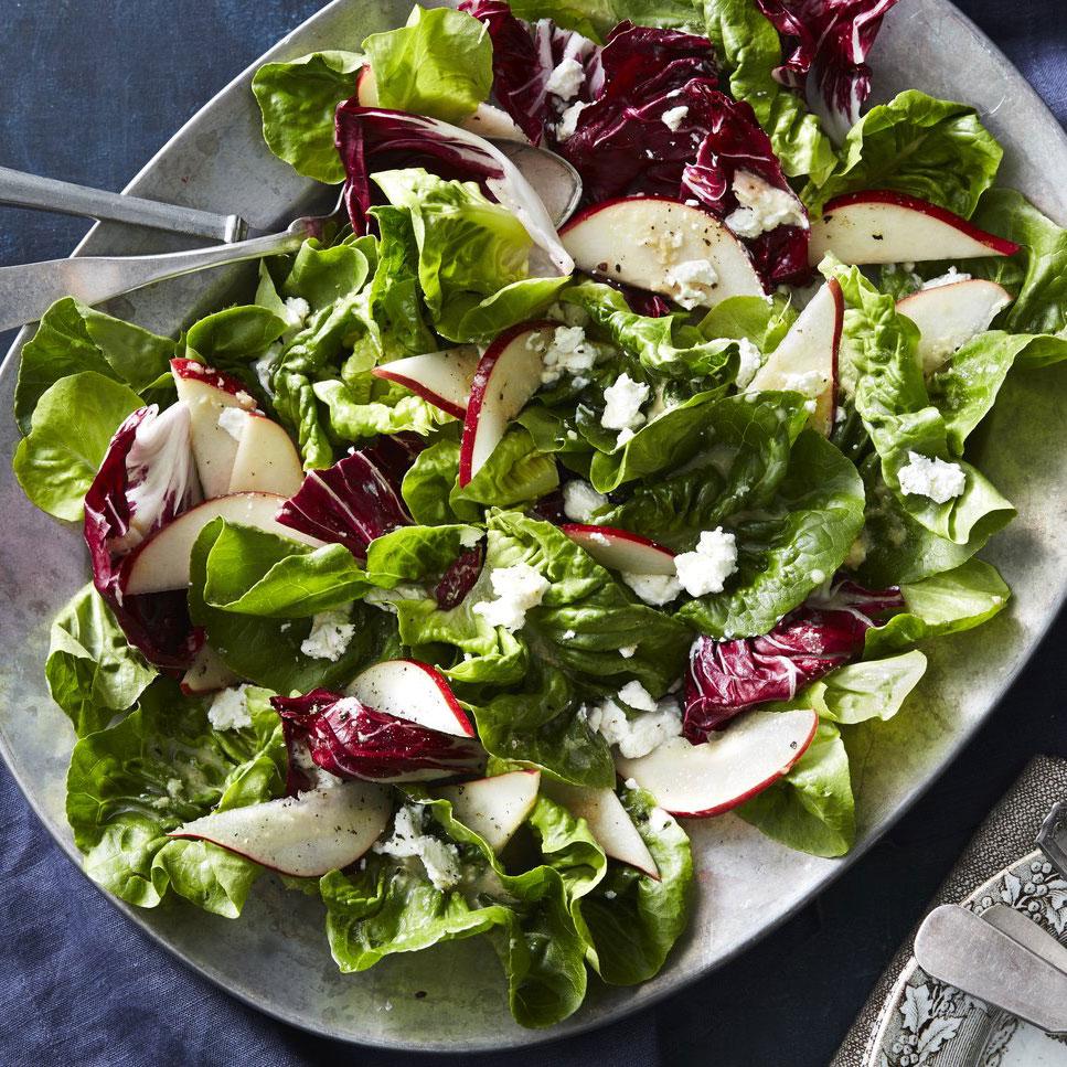 Fall Greens and Pear Salad