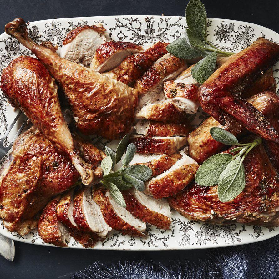 Grilled Butterflied Fennel-Garlic Turkey