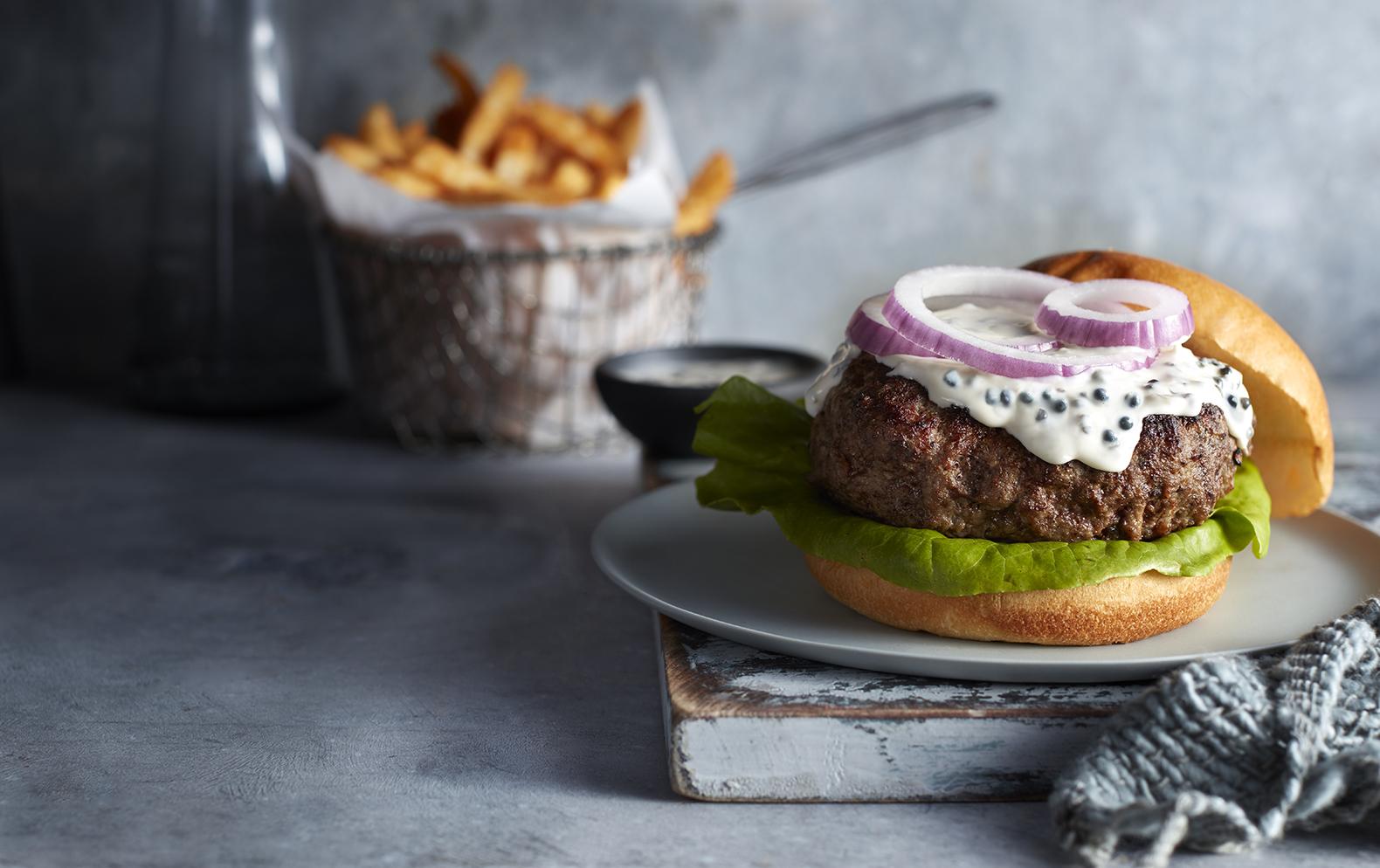 Caviar Burgers with Caviar Mayo