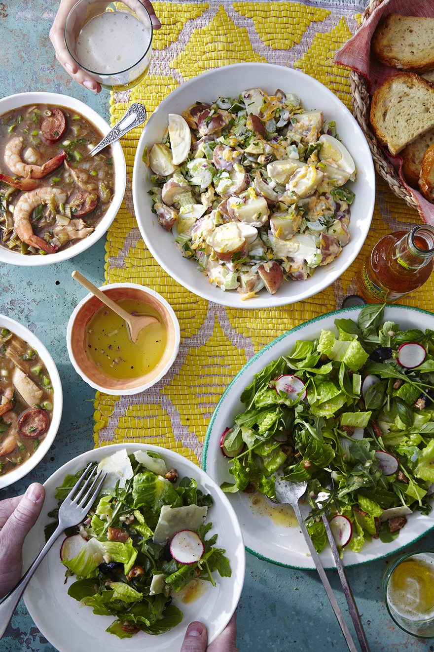 Zesty Arugula-and-Baby Romaine Salad with Candied Pecans and Shaved Reggiano