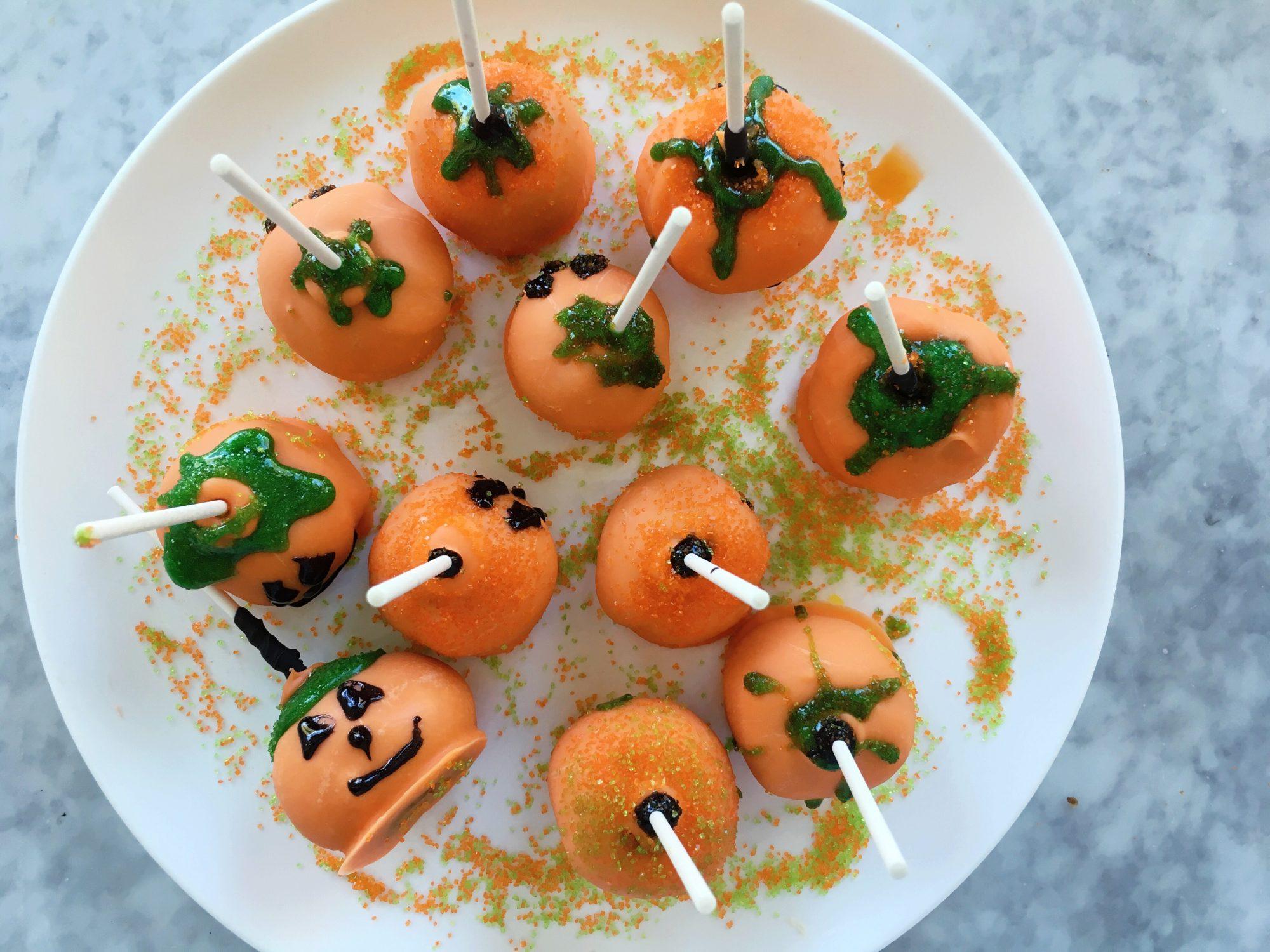 mr-Pumpkin Cake Pops Image