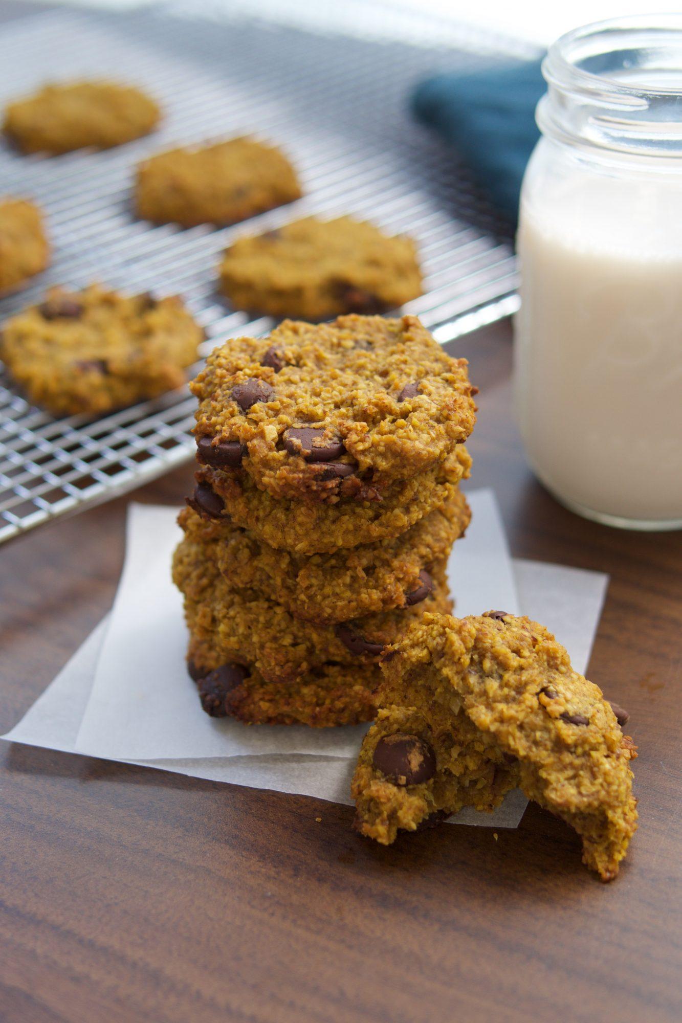 Pumpkin-Orange Chocolate Chip Oatmeal Cookies