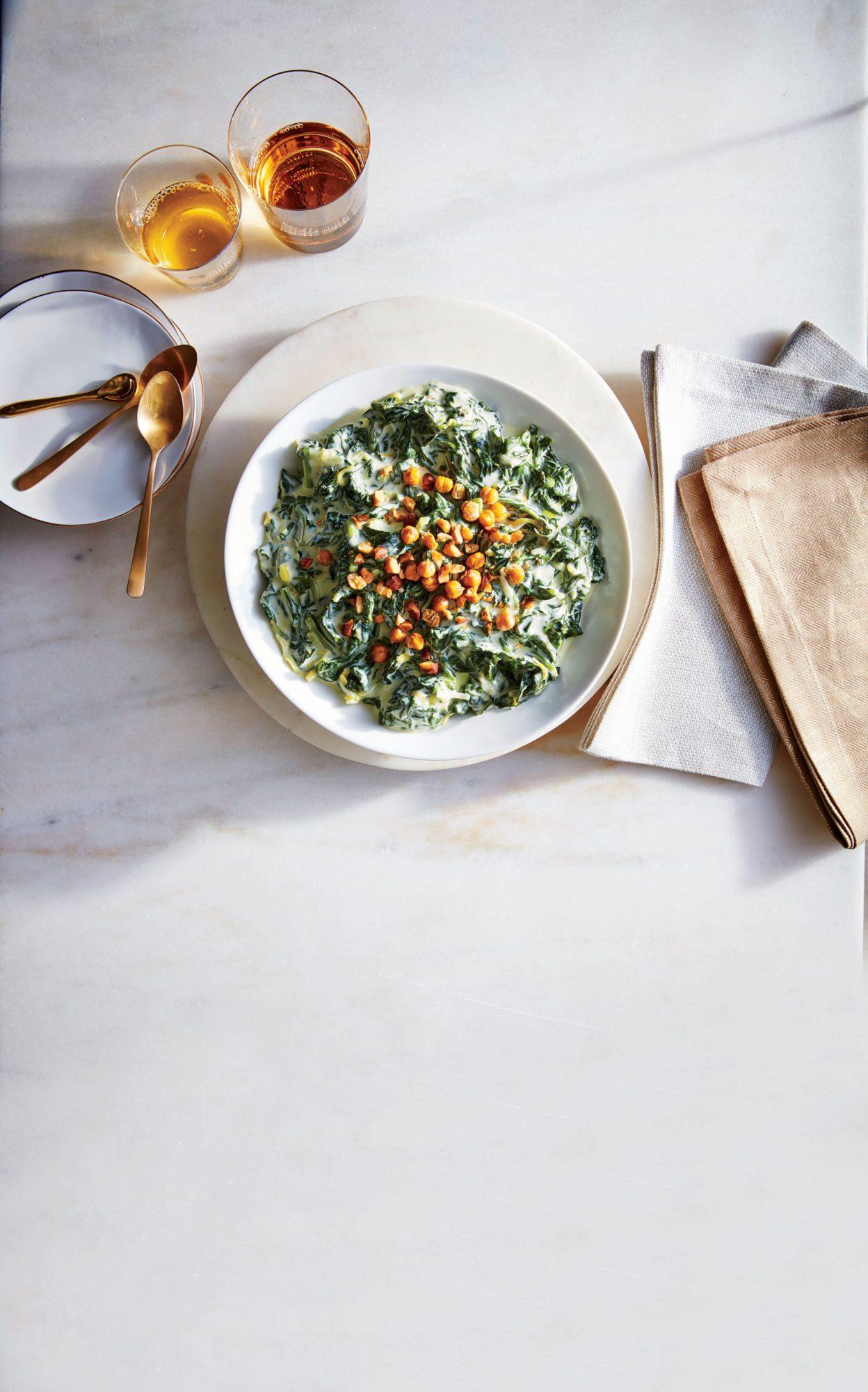 Creamed Winter Greens image