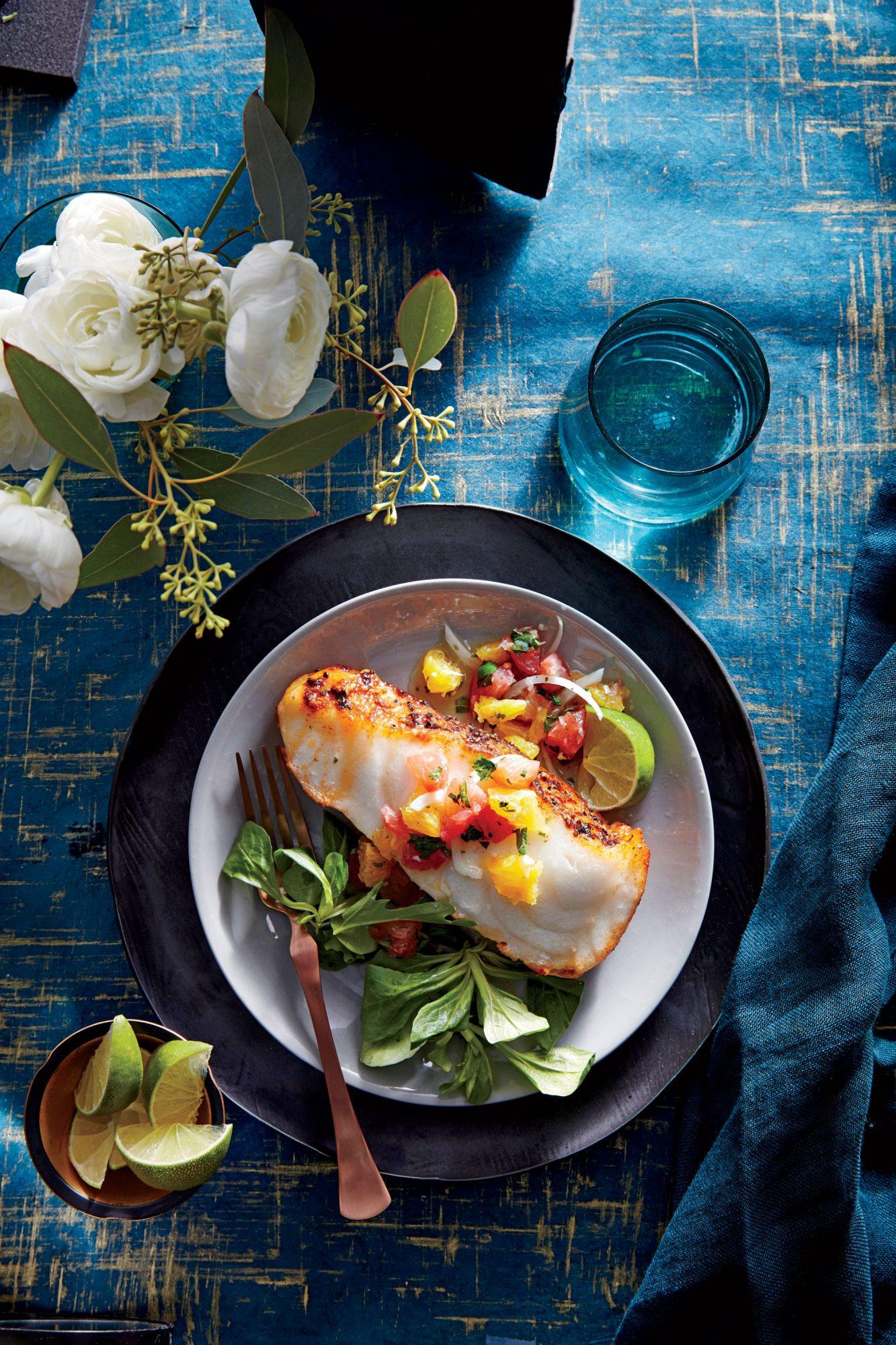 Seabass with Citrus Salsa image
