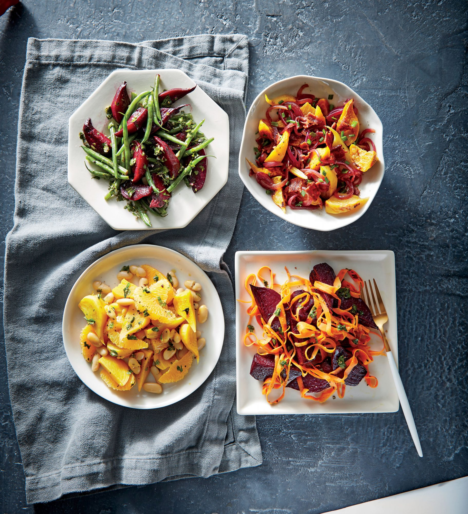 Speedy Beet and Bean Salad with Herb Vinaigrette image
