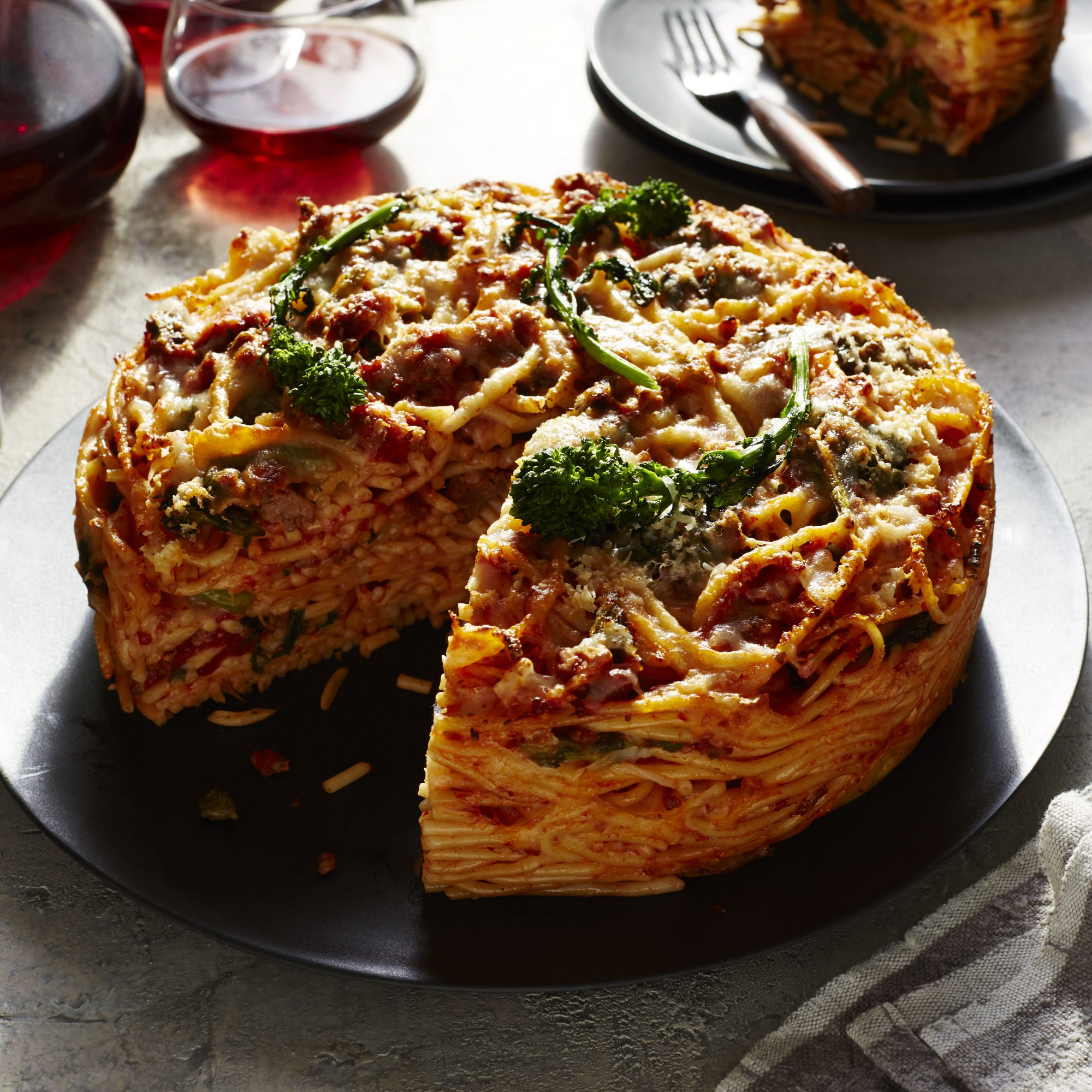 Sausage and Broccoli Rabe Pasta Pie image