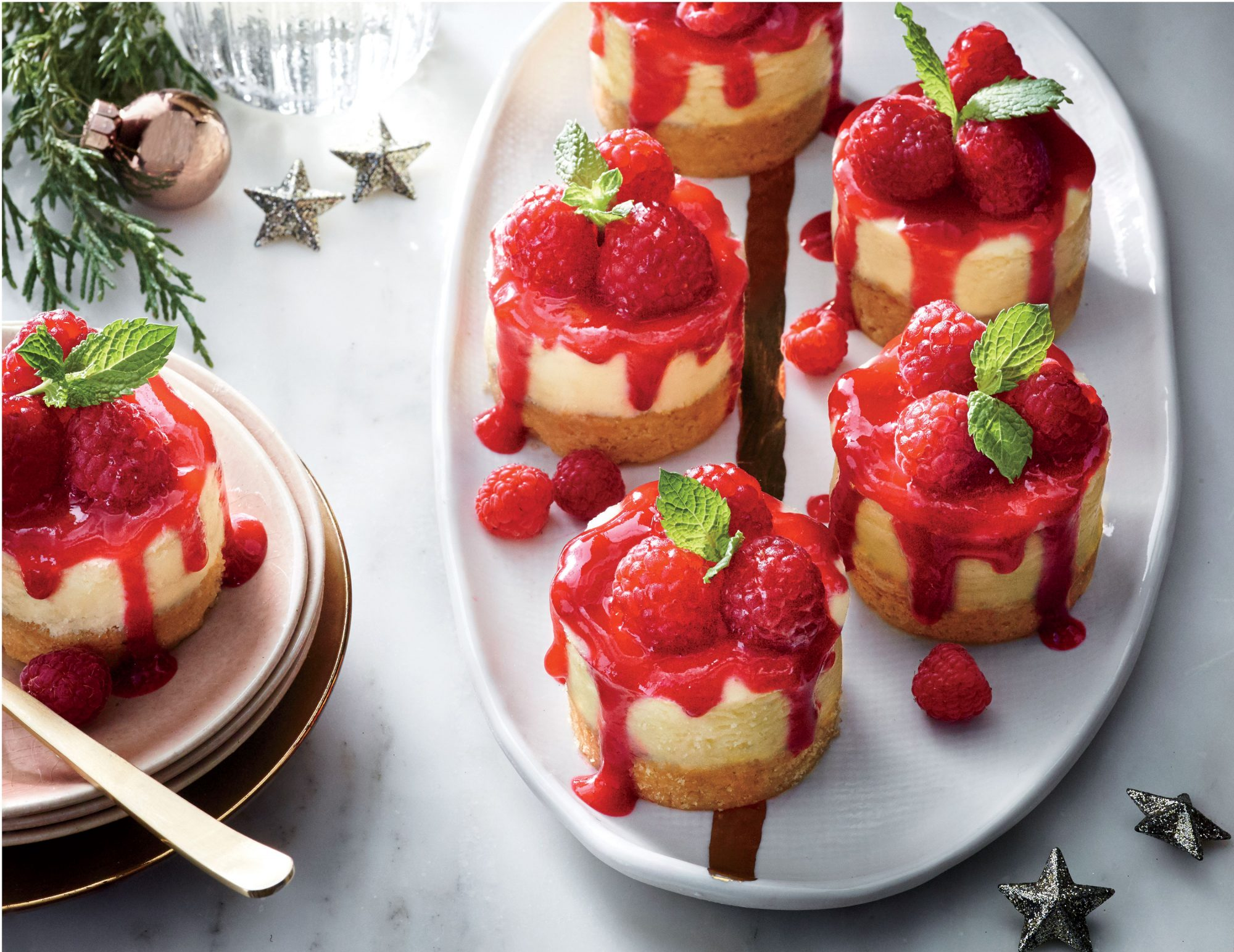 Mini Raspberry Cheesecakes image