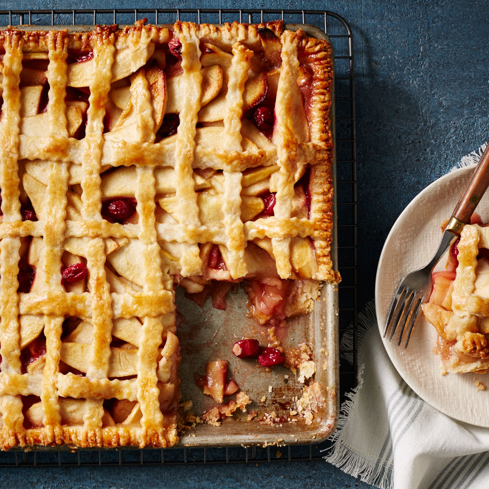 Cranberry-Apple Slab Pie