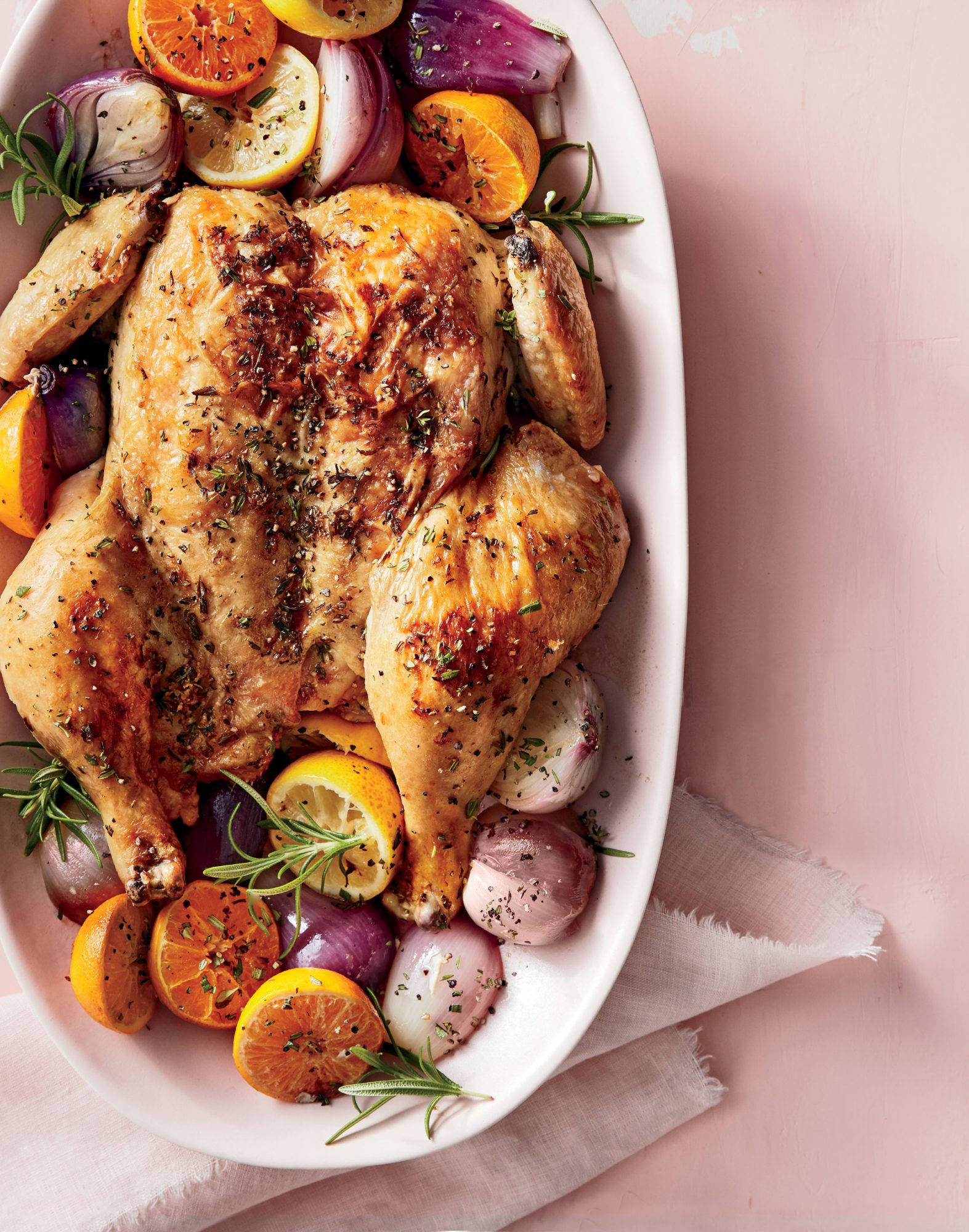 Spatchcock Chicken with Roasted Citrus image
