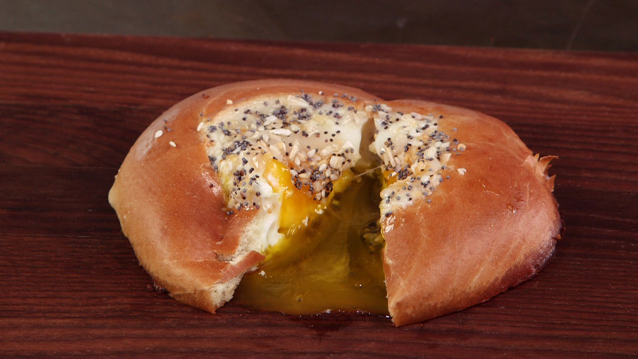 Everything Egg in a Bagel Hole image