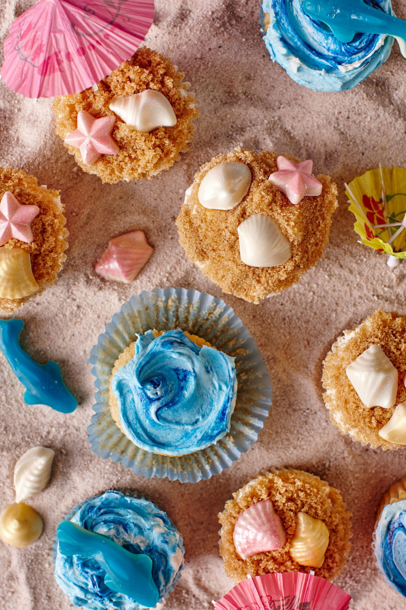 Tropical Beach Cupcakes image
