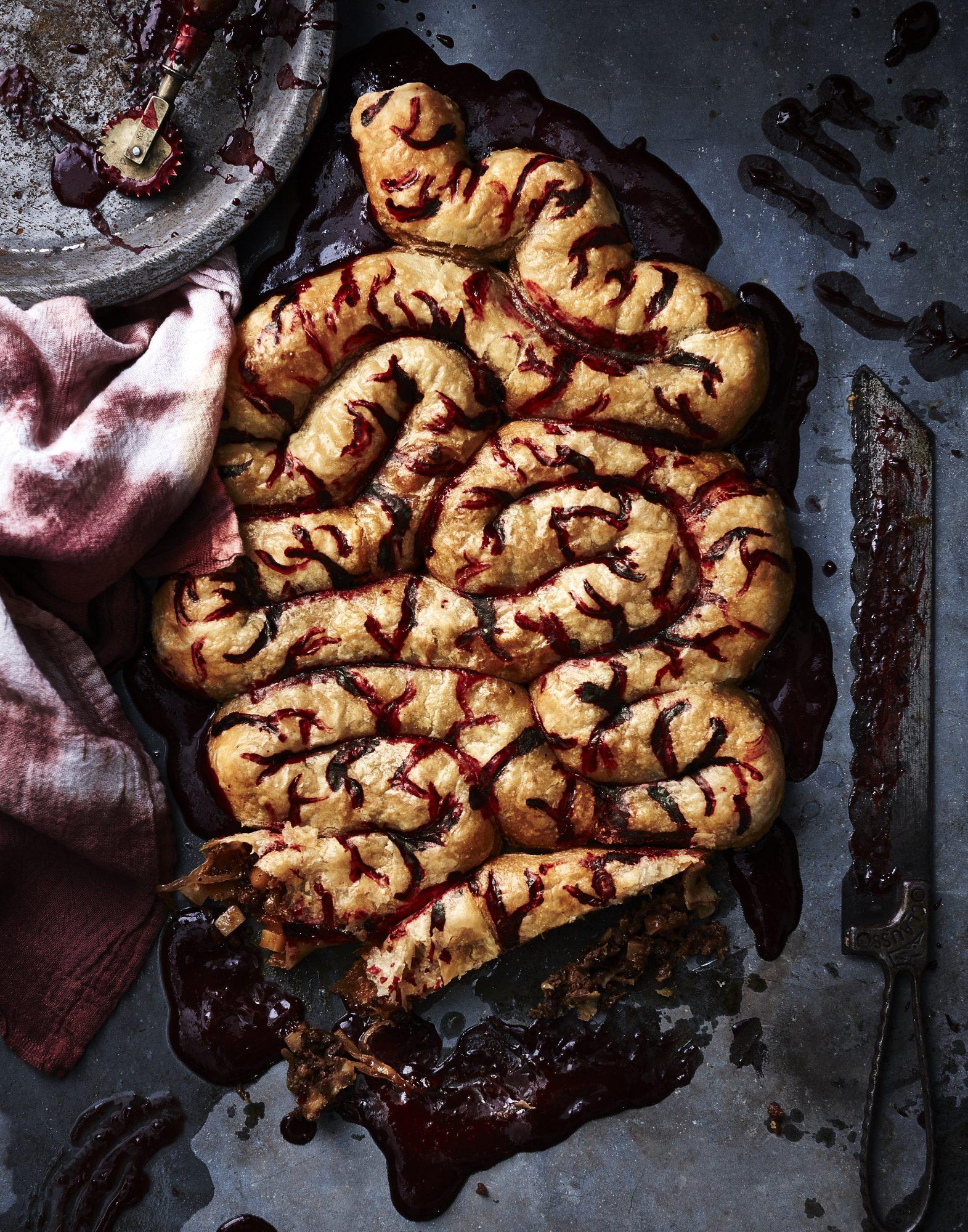 Chorizo and Caramelized Onion Stuffed Intestines image