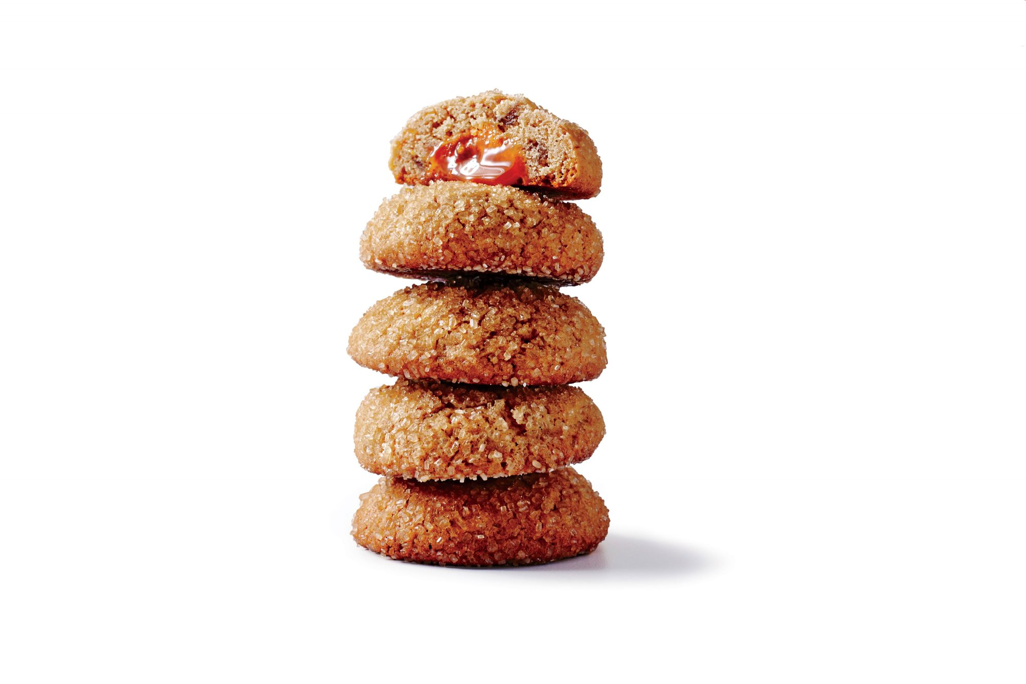 Caramel-Stuffed Ginger Cookies image
