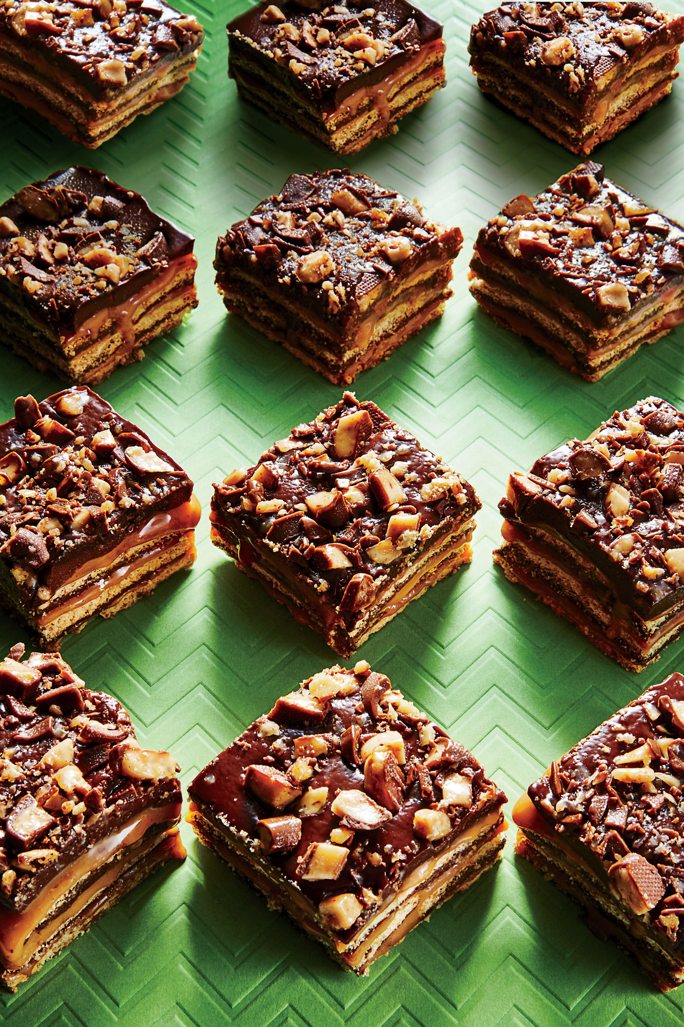 No-Bake Fudgy Toffee Bars image