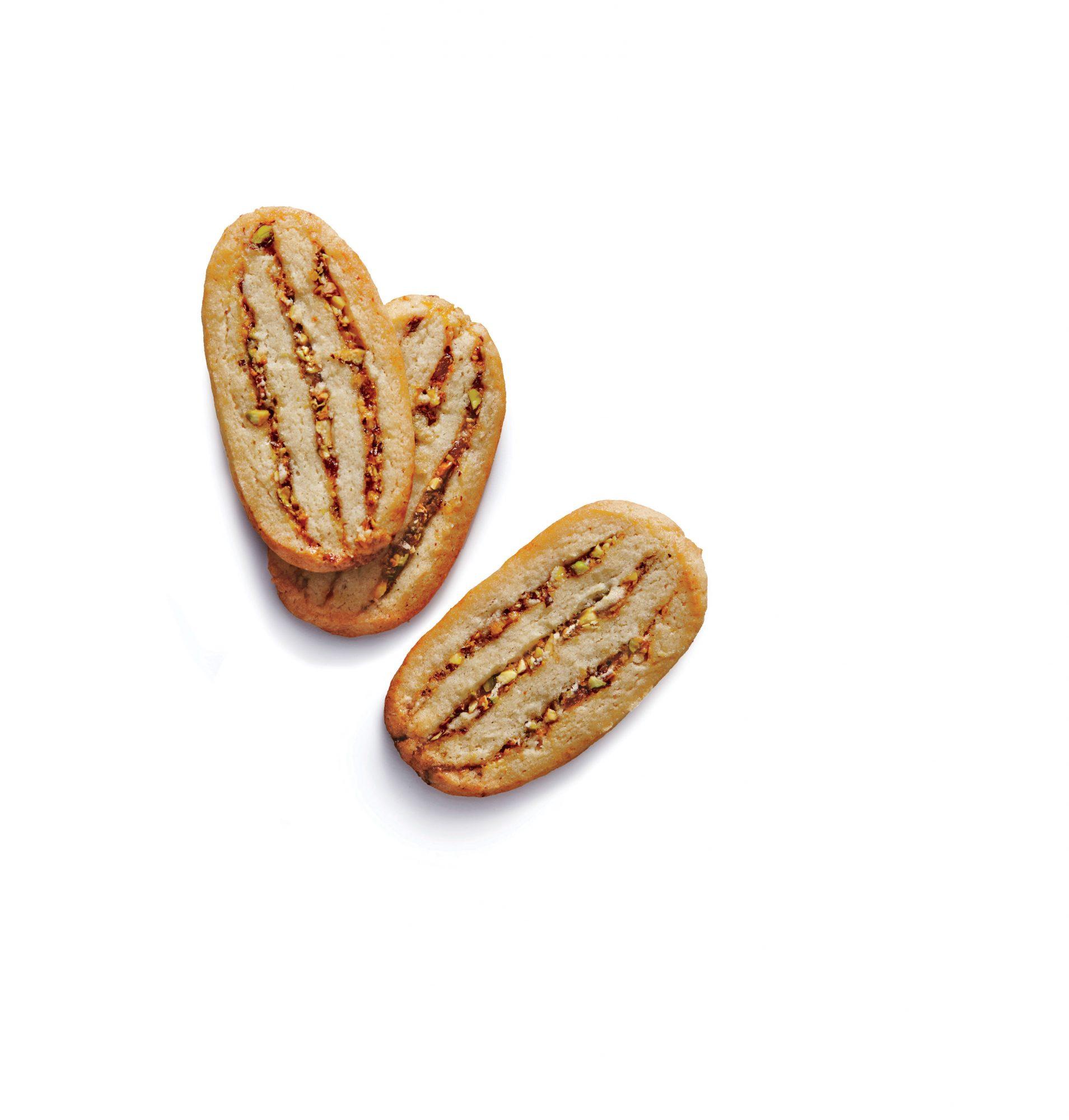Peachy Pistachio Icebox Cookies image