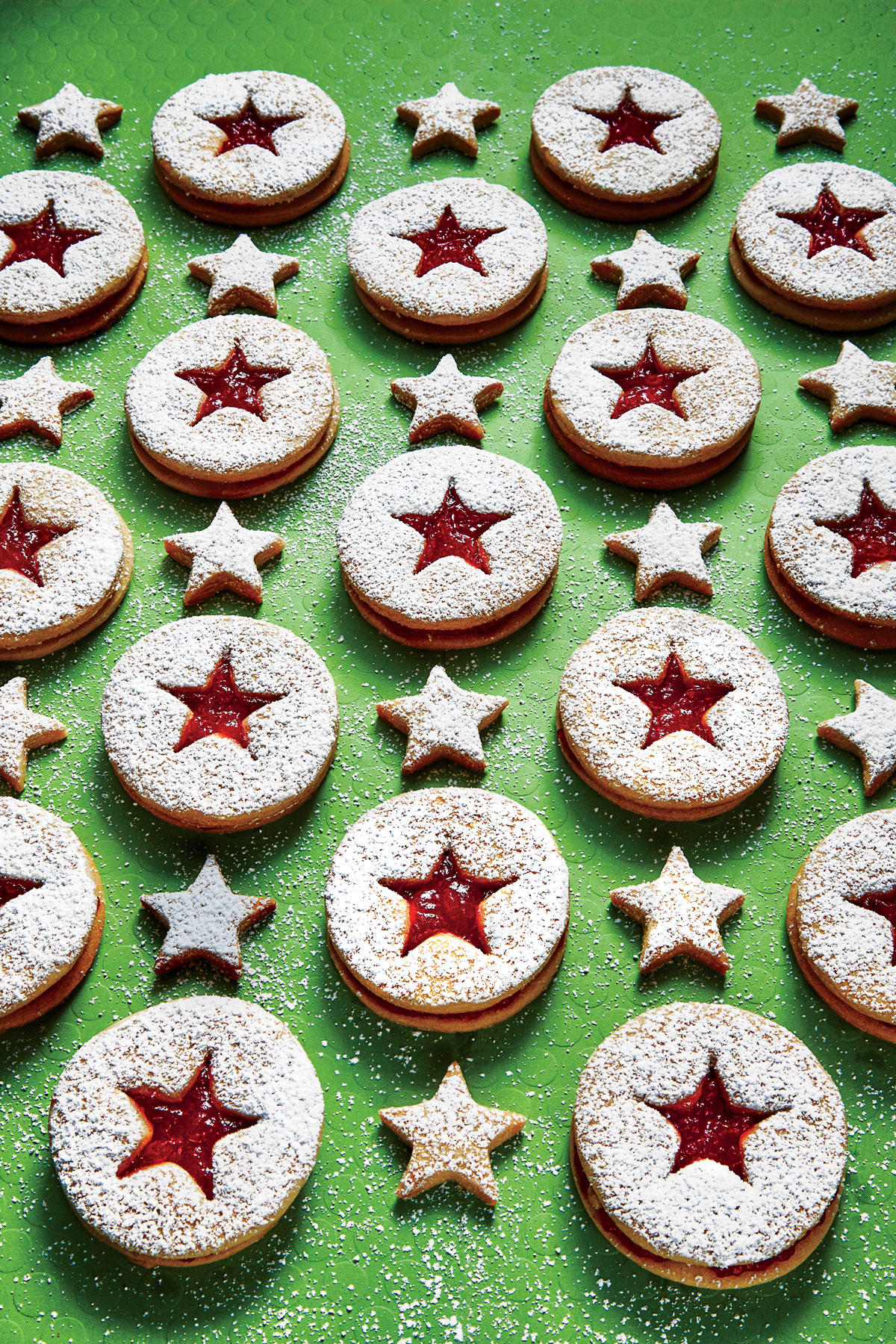 Peanut Butter-and-JellyLinzer Cookies image