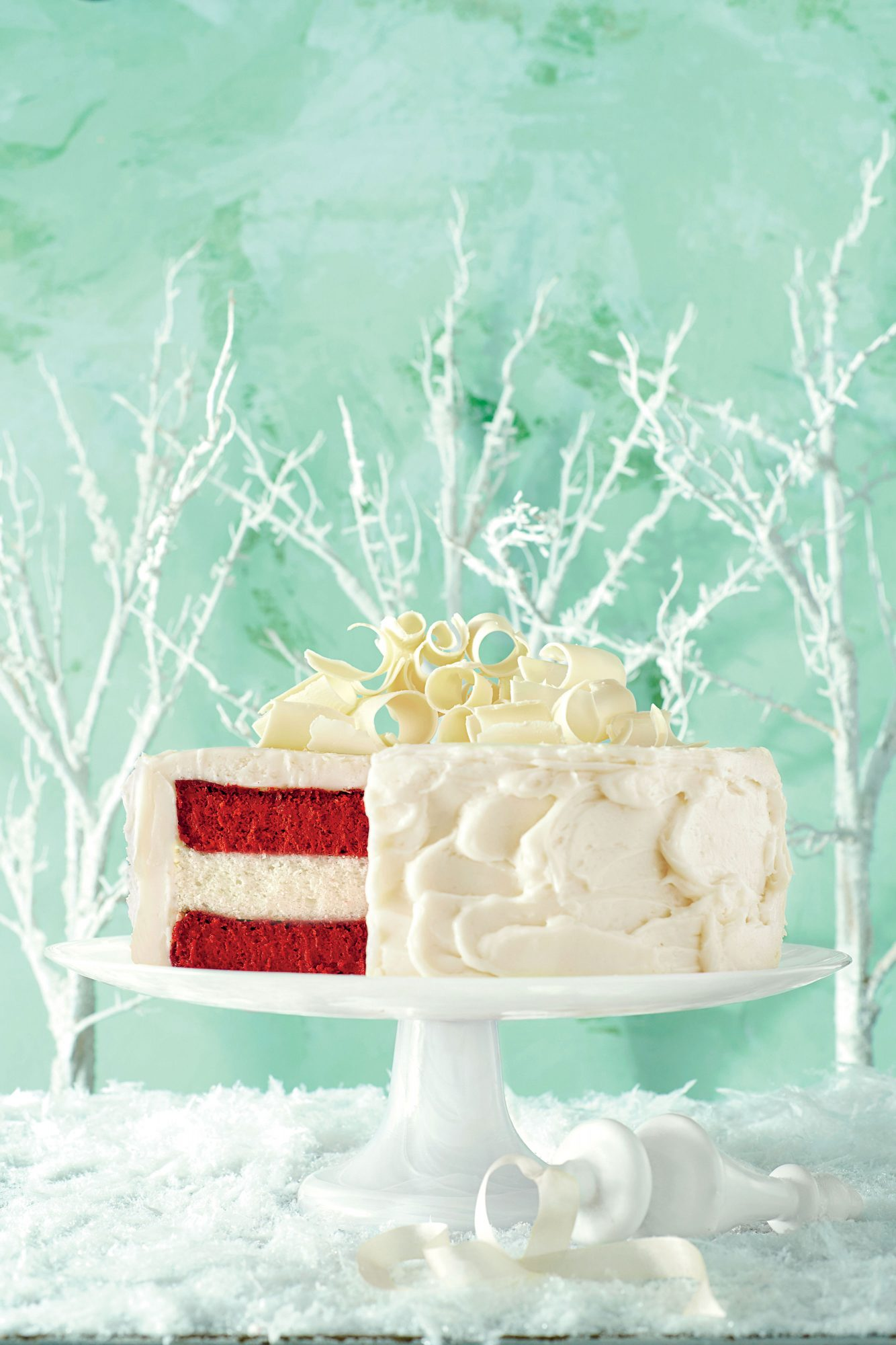 Red Velvet Cheesecake-Vanilla Cake with Cream Cheese Frosting image