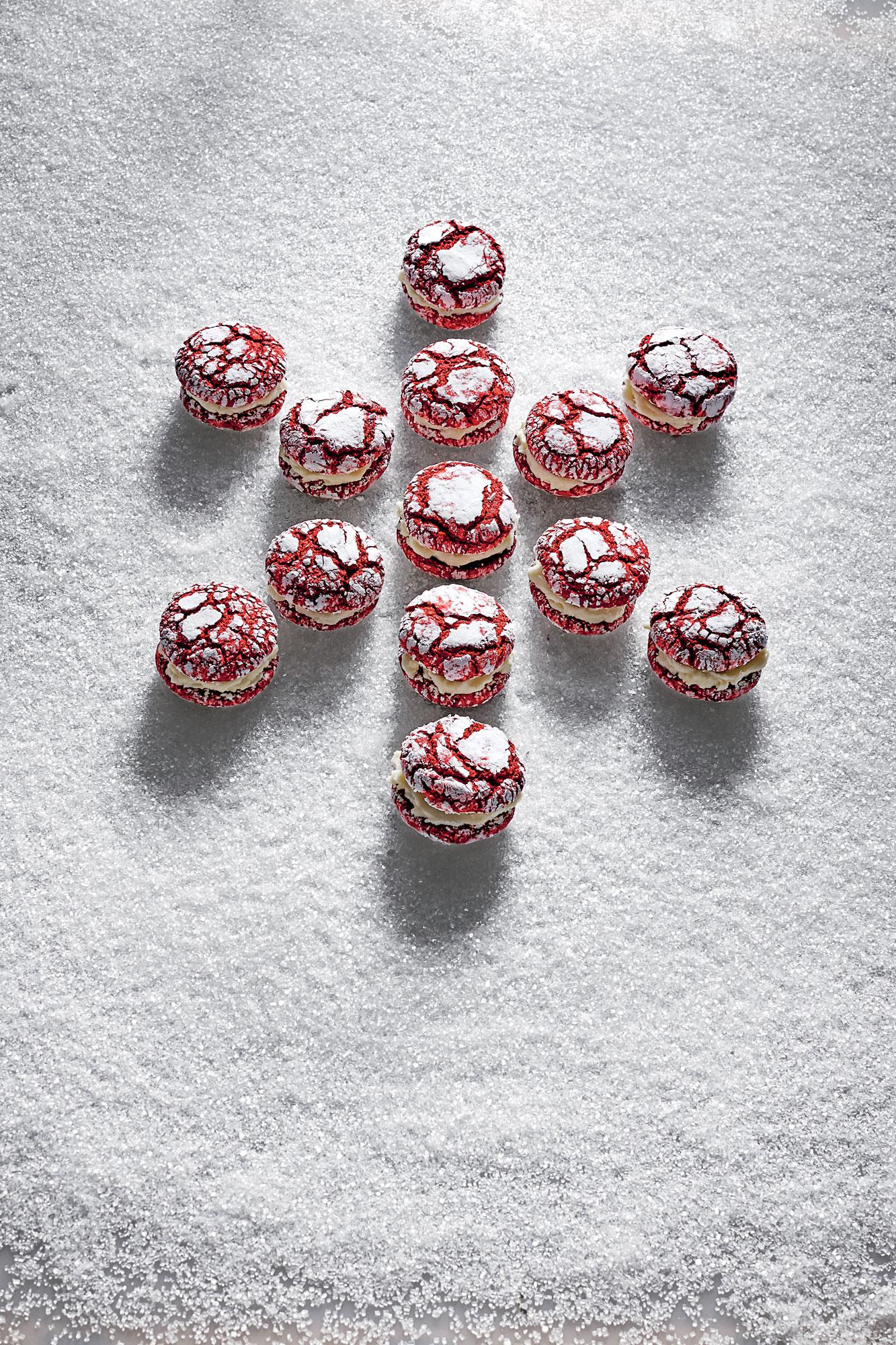 Red Velvet Crackle Sandwich Cookies image