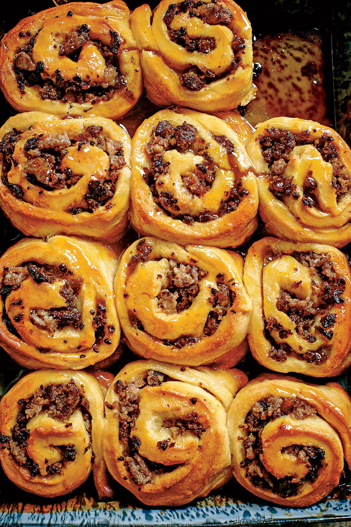 Sausage-Stuffed Honey Buns image