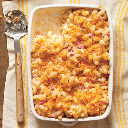 This macaroni and cheese dish gets its name from the fragrant smoked Gouda and smoked ham that flavor the dish. Perfect for a one-dish meal or a hearty midnight snack, this baked pasta dish has our number.Baked Smokin' Macaroni and Cheese Recipe