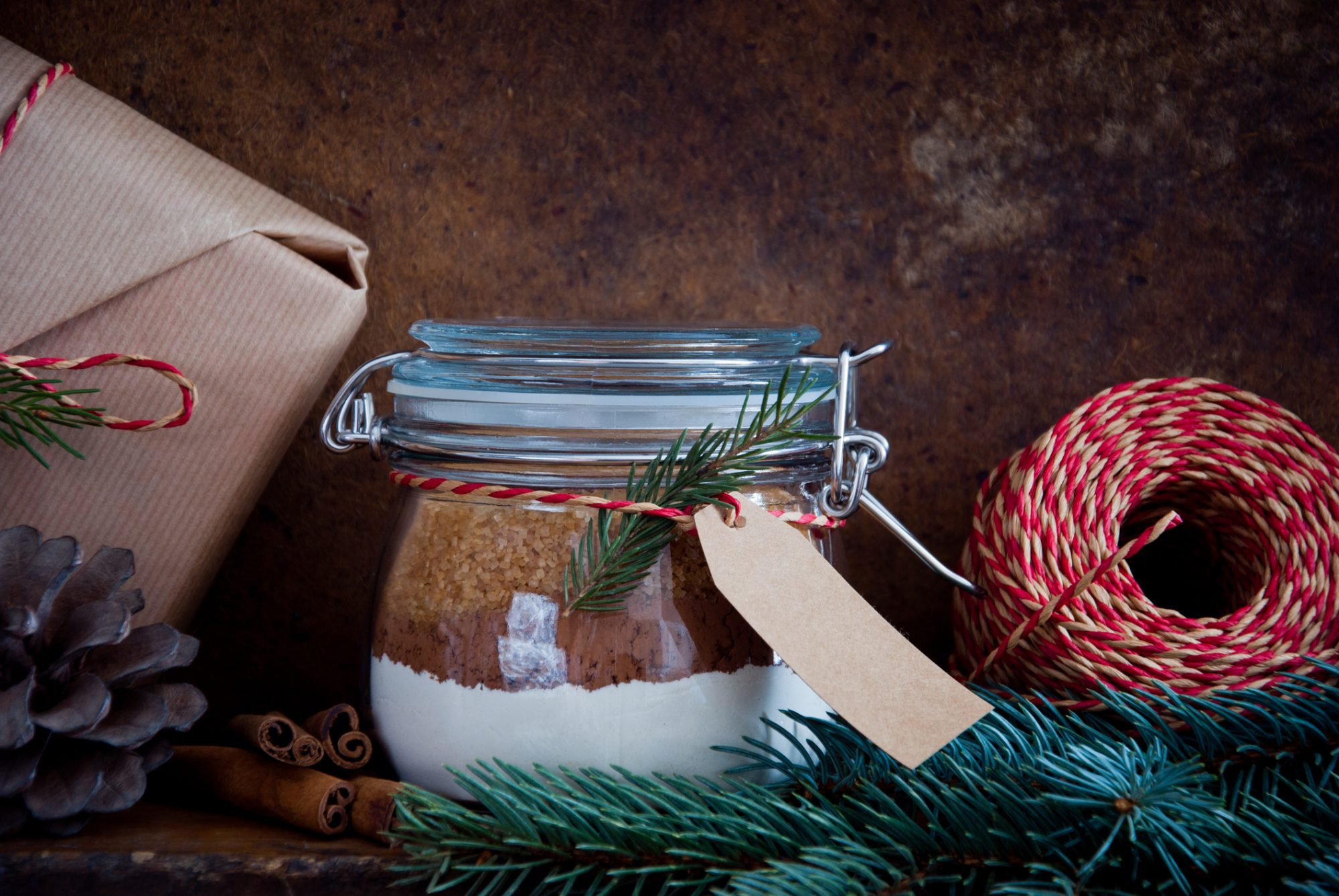 Holiday cake mix in jar gift image