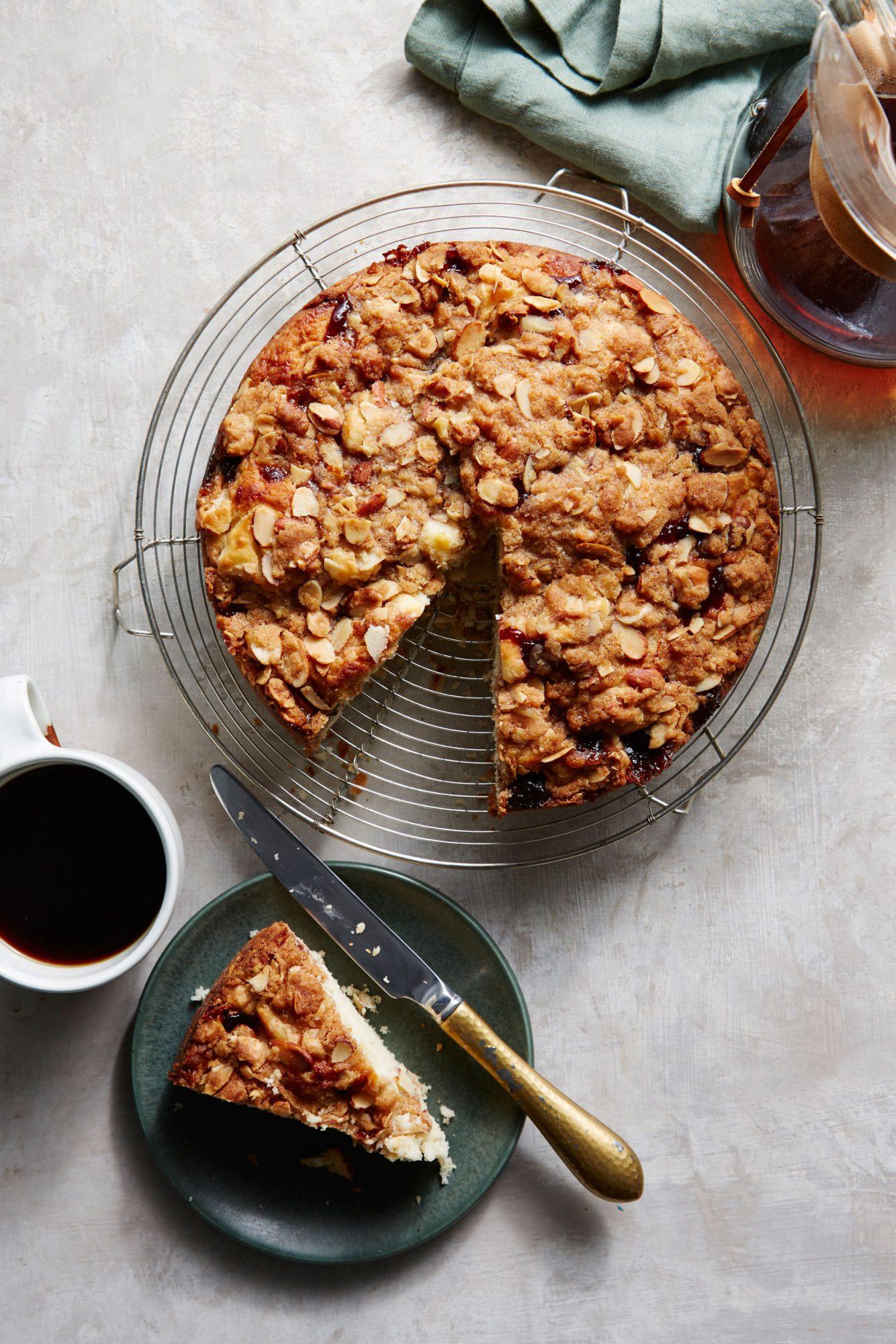 Raspberry-Cream Cheese Coffee Cake image