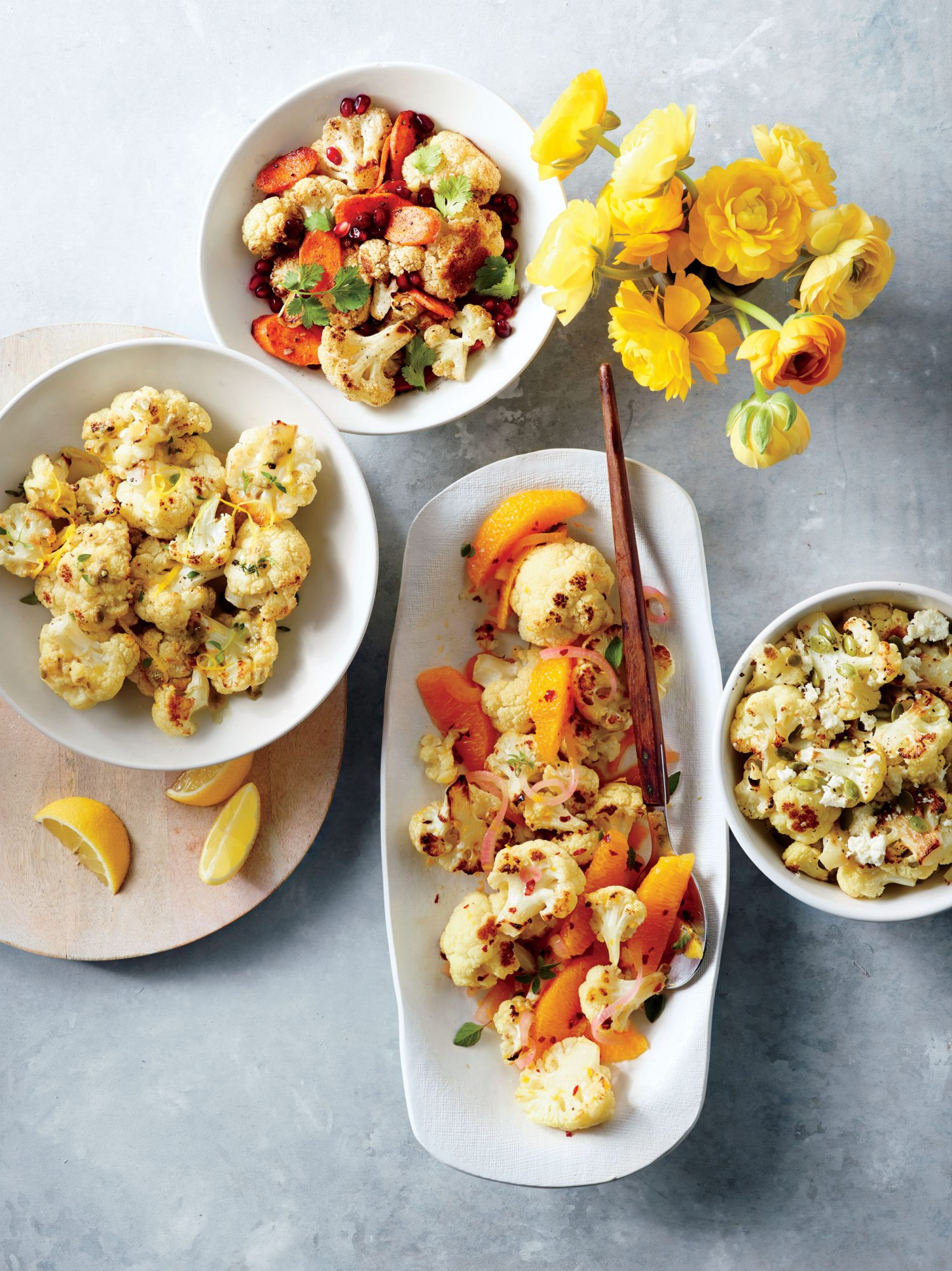 Roasted Cauliflower with Lemon-Caper Vinaigrette image
