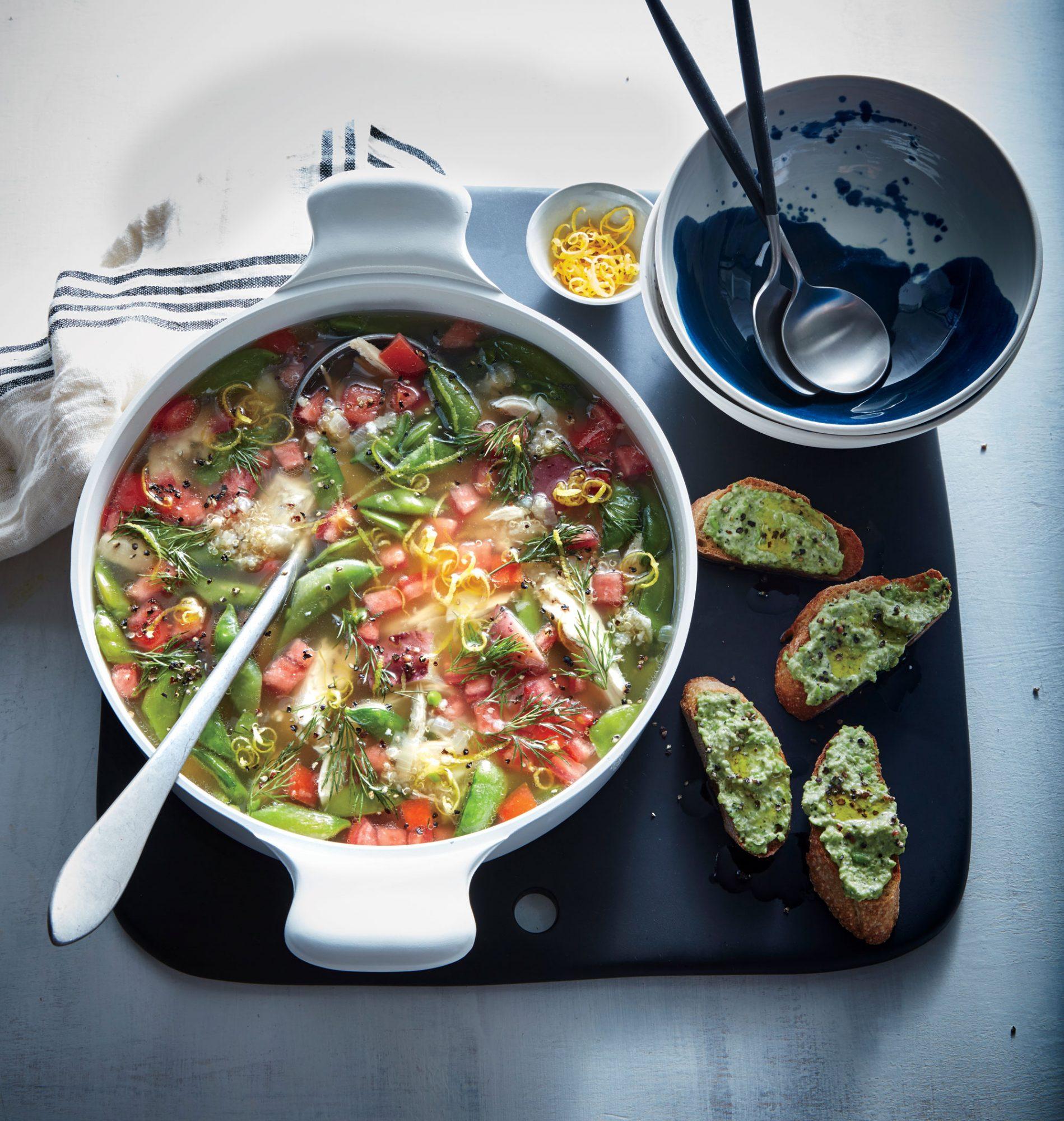 Ricotta and Sweet Pea Toasts image