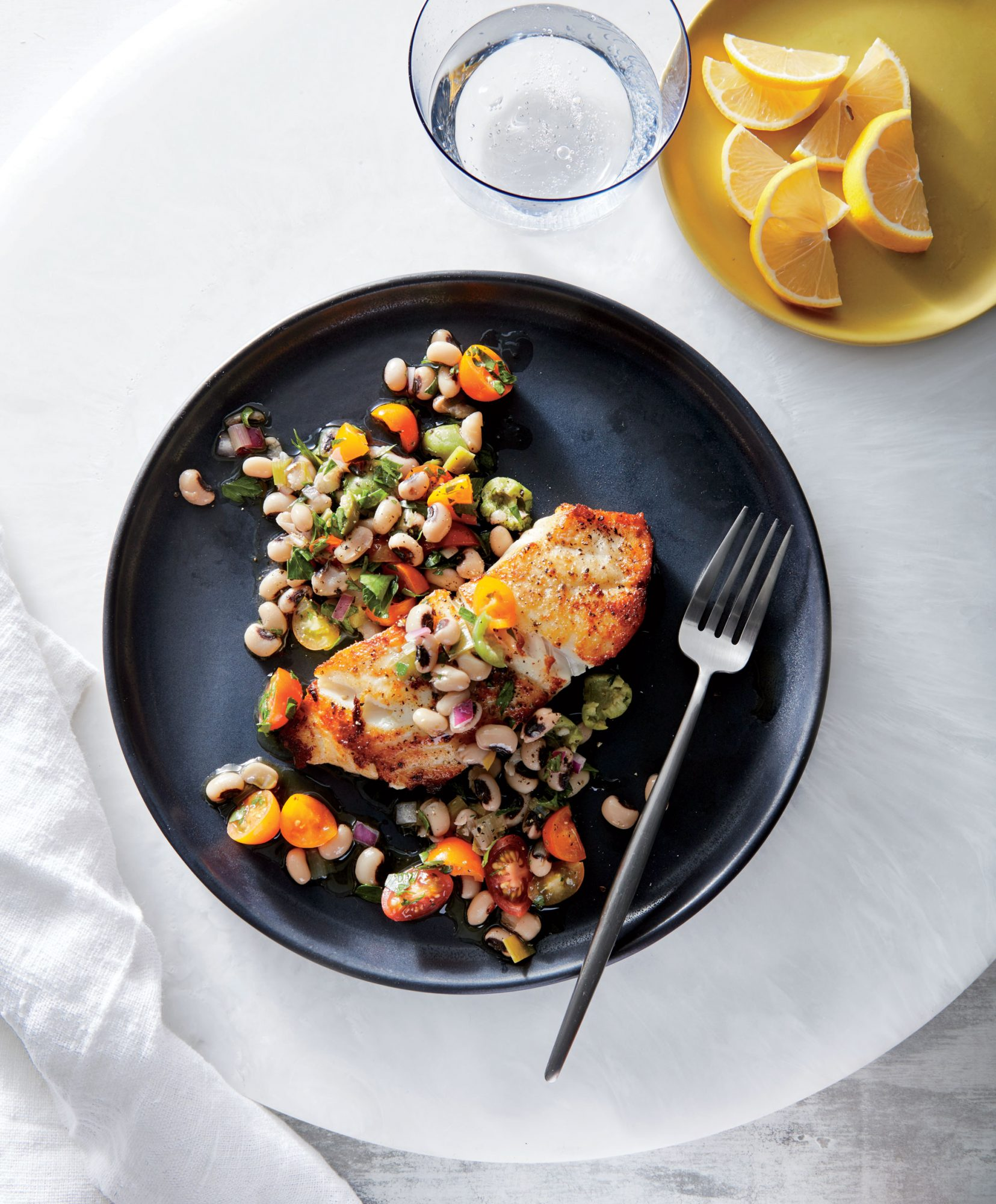 Seared Grouper with Black-Eyed Pea Relish image