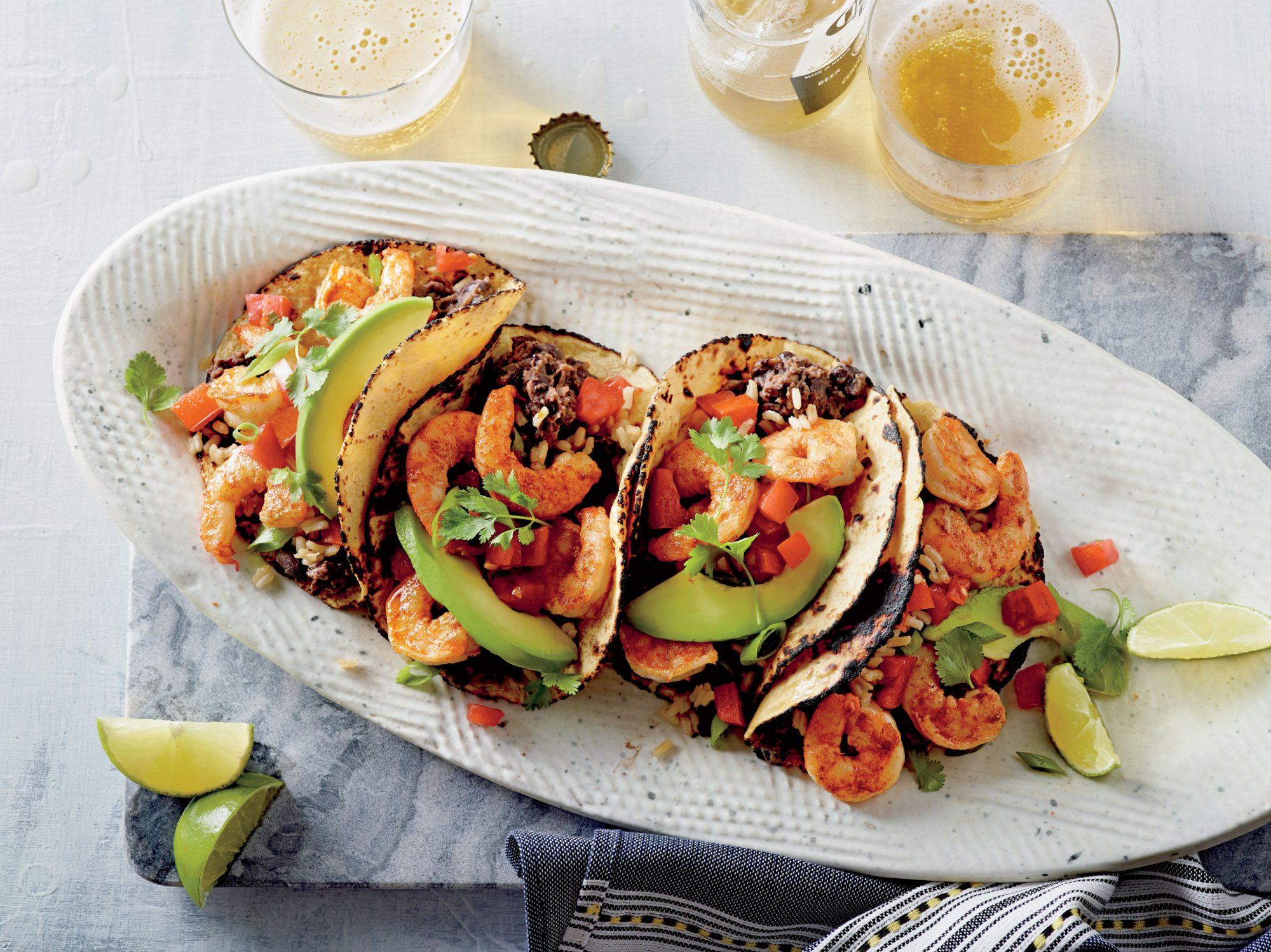 Shrimp and Black Bean Tacos image