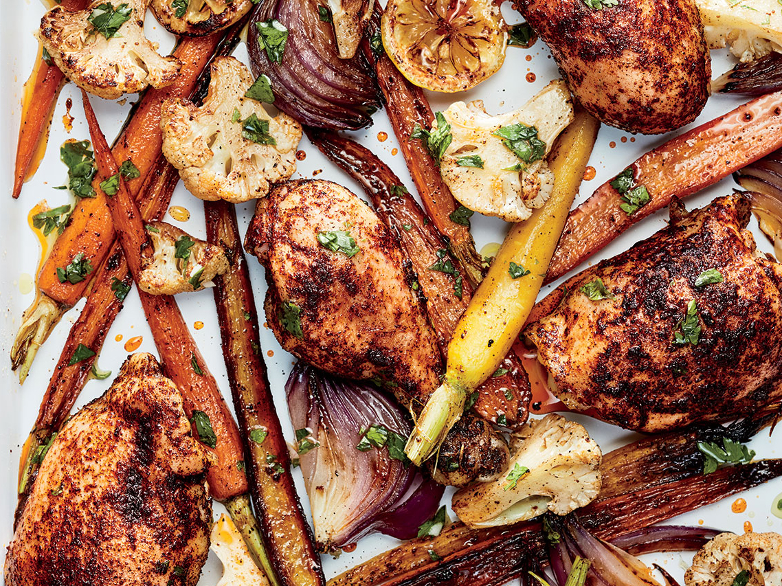 Sumac Chicken with Cauliflower and Carrots image