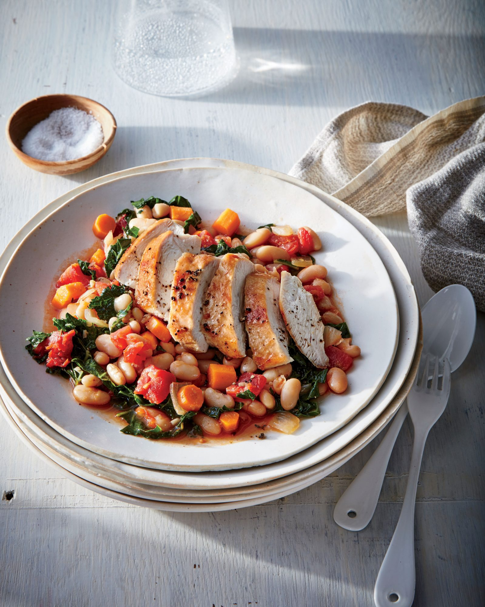 Tuscan Chicken with White Beans and Kale image