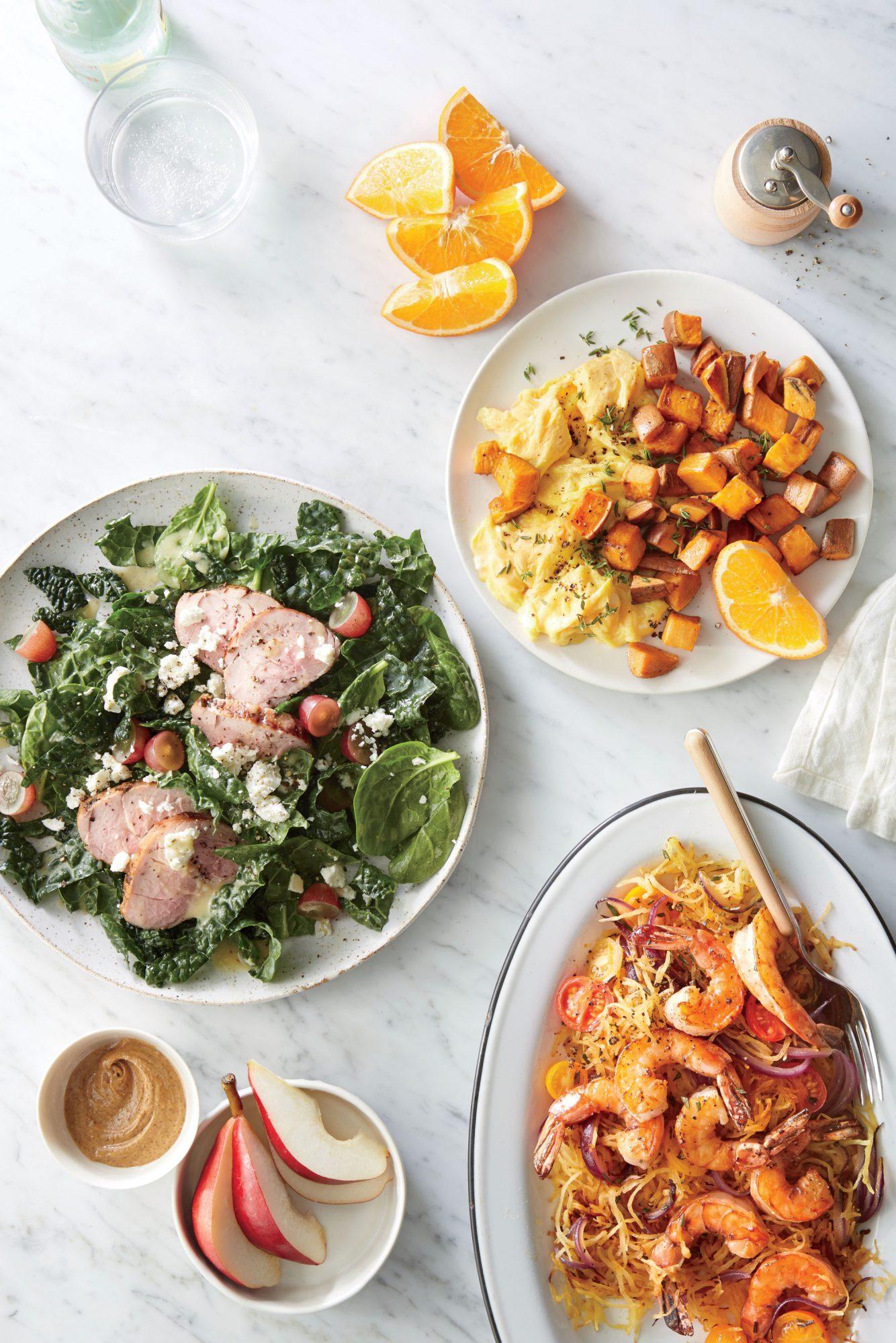 Winter Salad with Easy Herbed Pork Tenderloin image