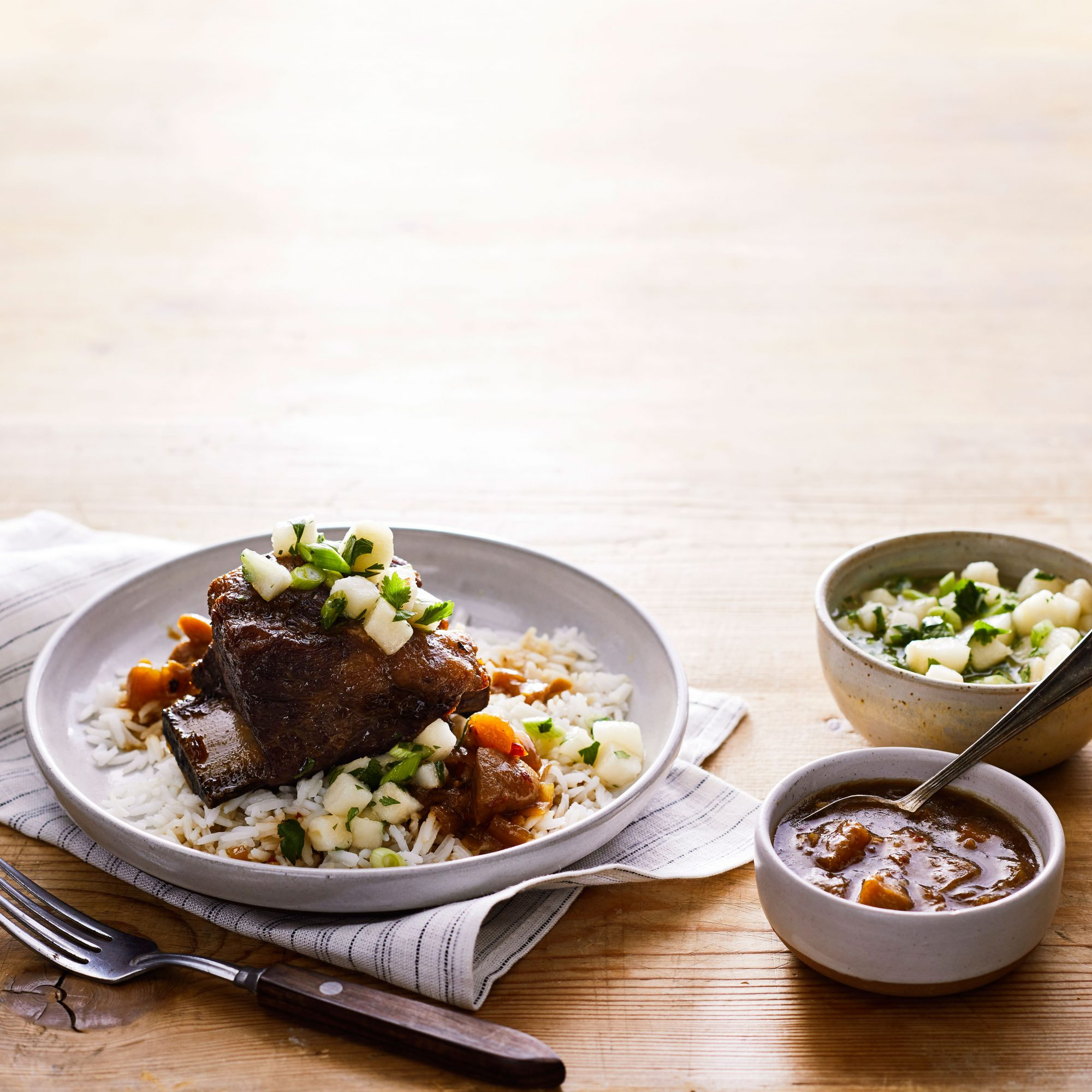 Braised Short Ribs with Pear, Ginger, and Star Anise