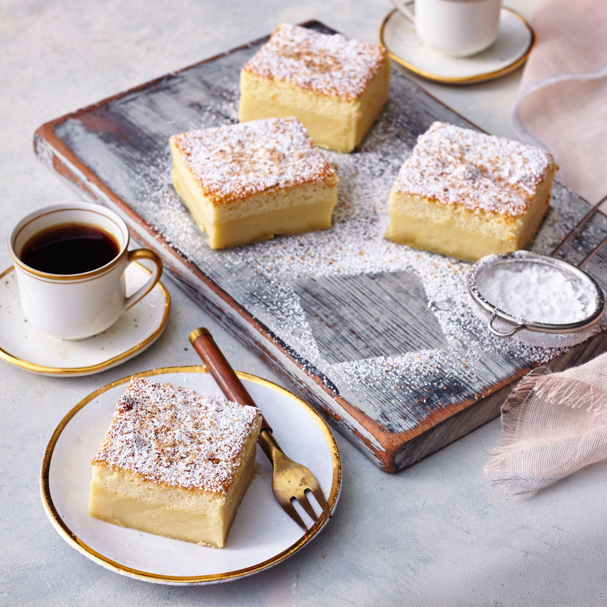Eggnog Magic Cake image