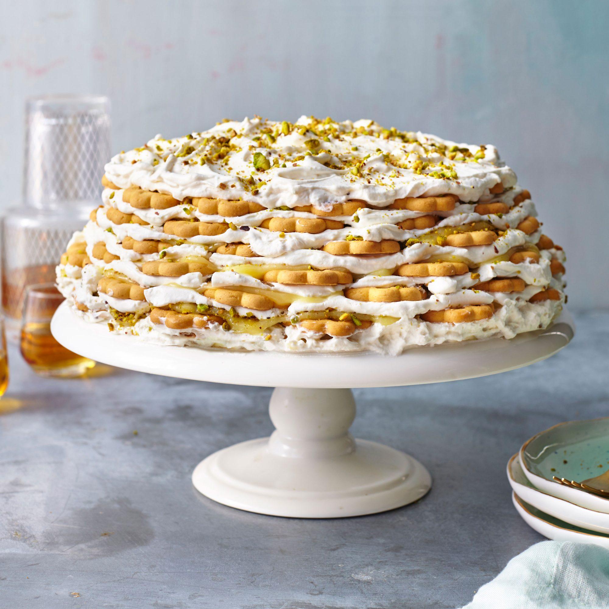 Key Lime-Shortbread Icebox Cake image