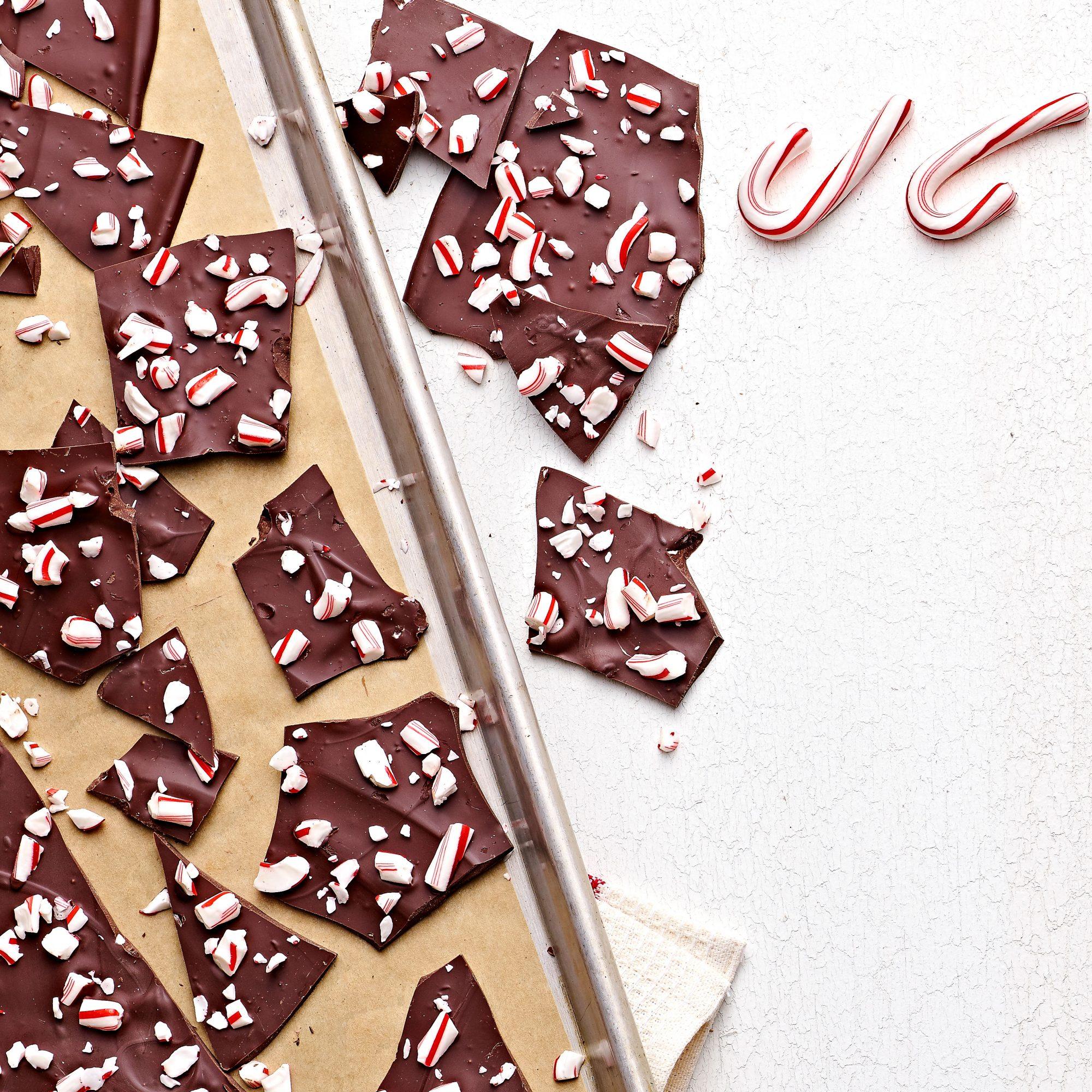Dark Chocolate Peppermint Bark Recipe | MyRecipes
