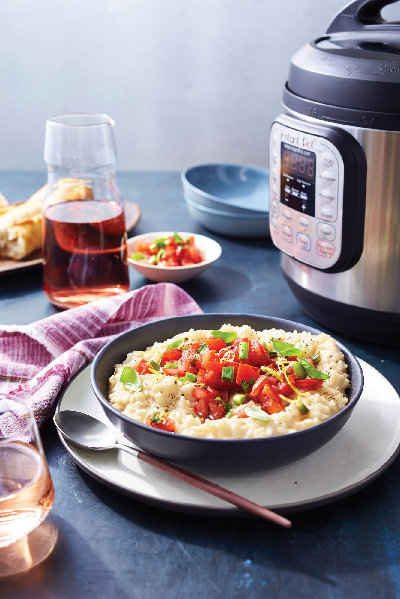 Risotto with Tomato Topping