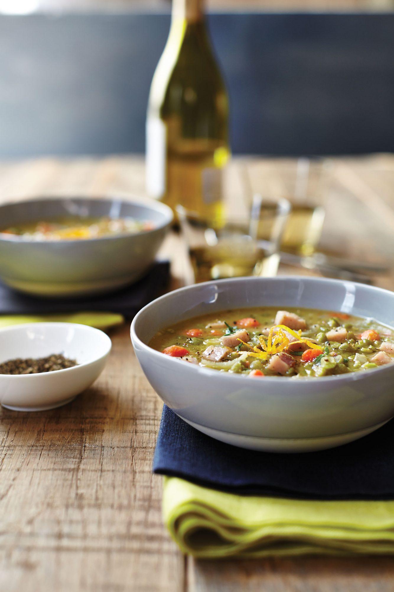 Smoked Pork and Split Pea Soup image