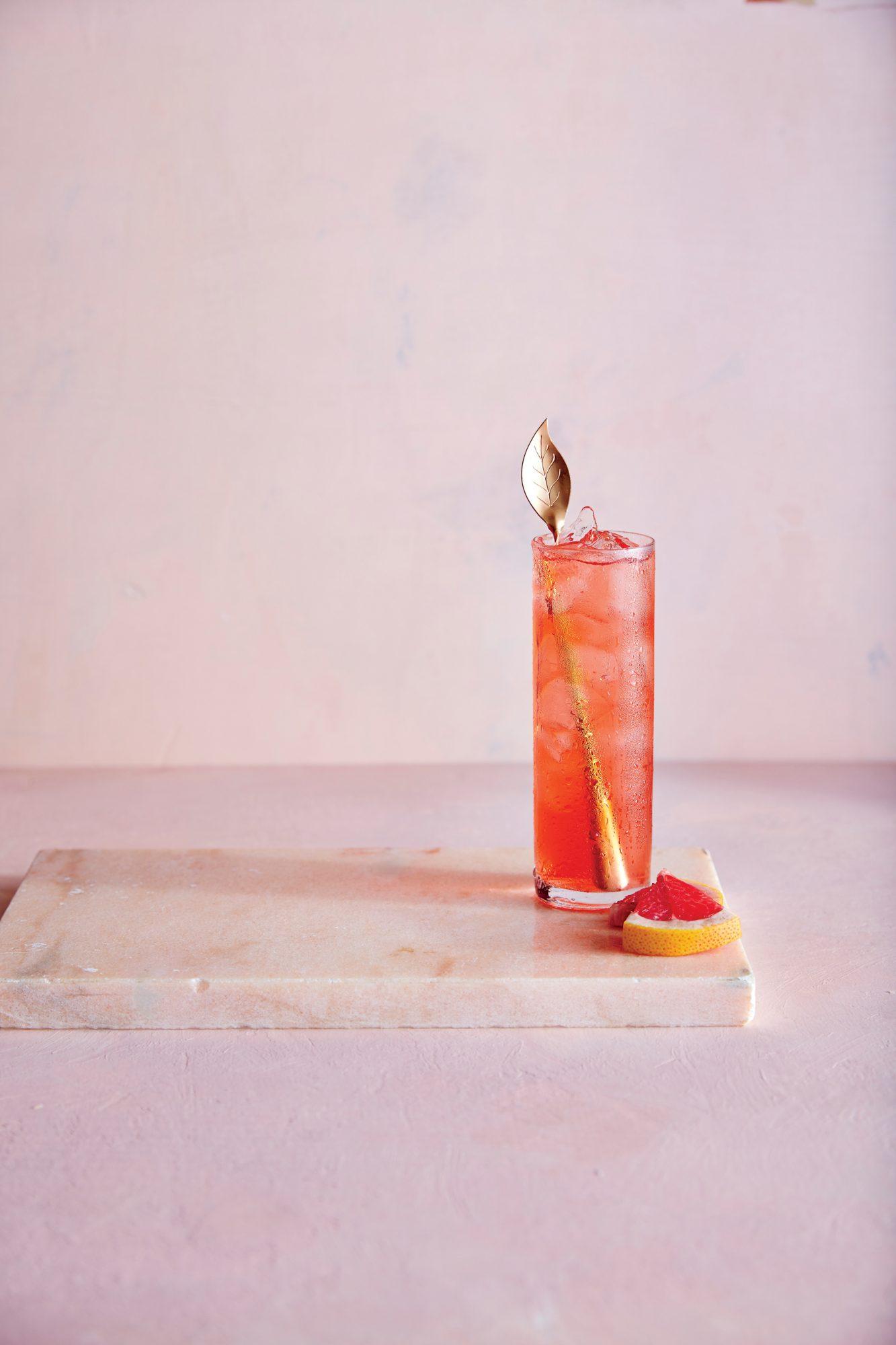 cl-Cachaça, Campari, Lime, and Grapefruit Cocktail
