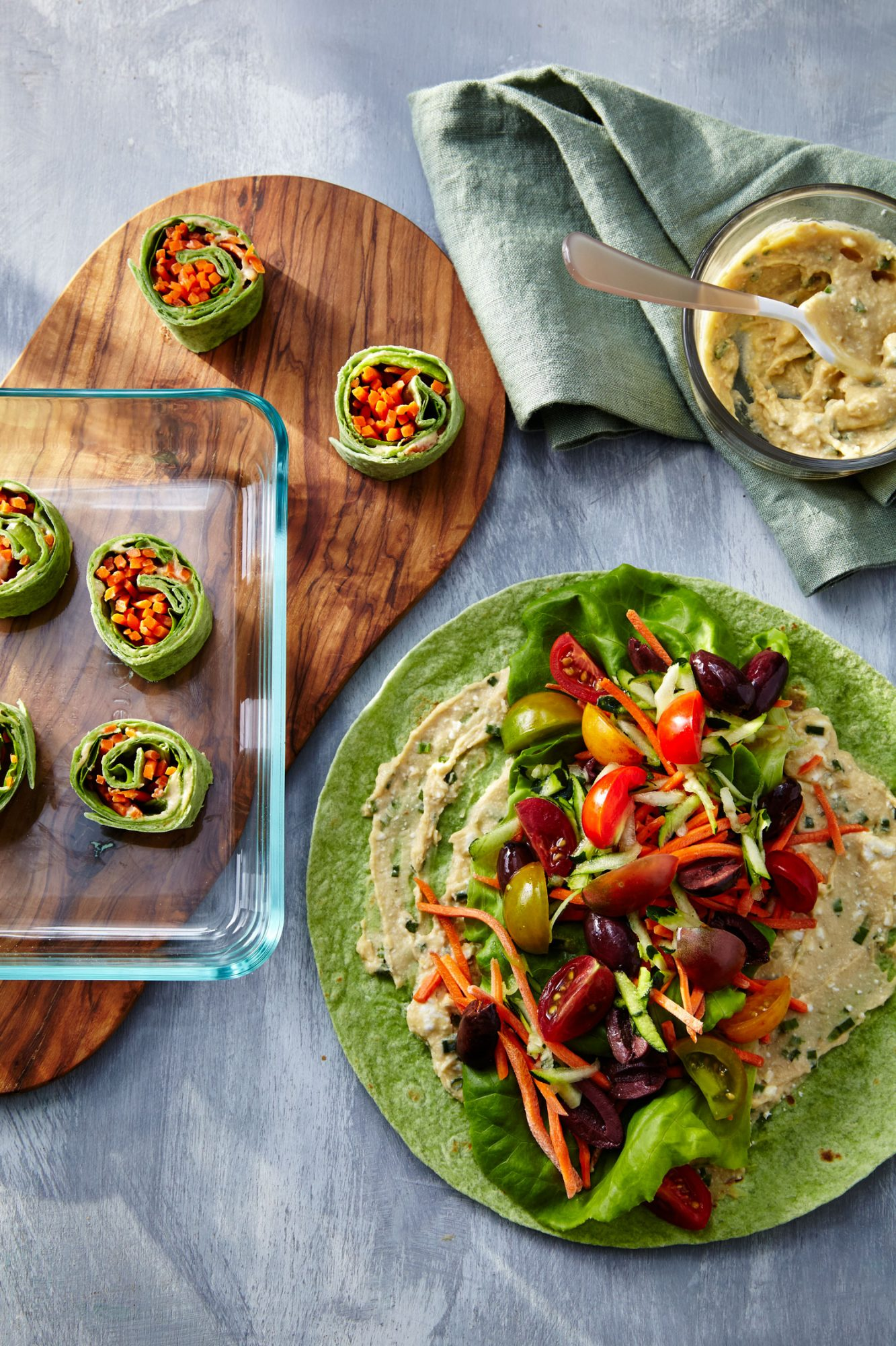 Hummus Veggie Wrap/Hummus Pinwheels image