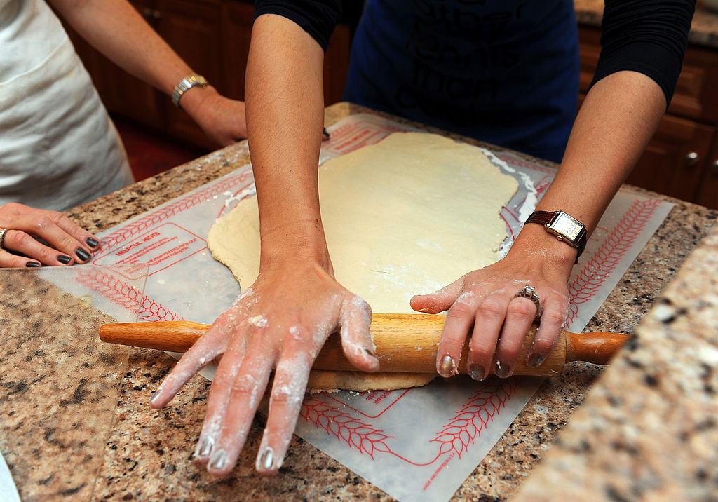 Rolling Dough with Rolling Pin image