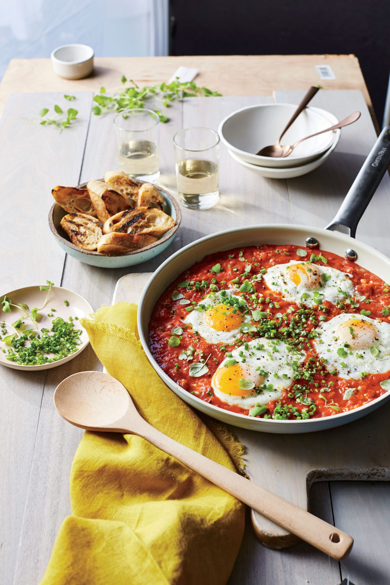 Saucy Skillet-Poached Eggs image