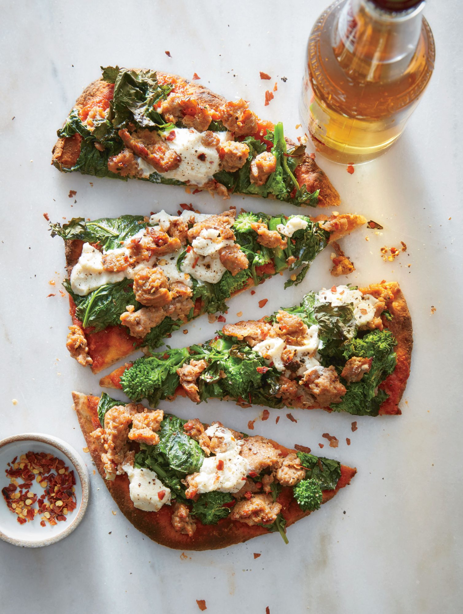 Sausage and Broccoli Rabe Flatbreads