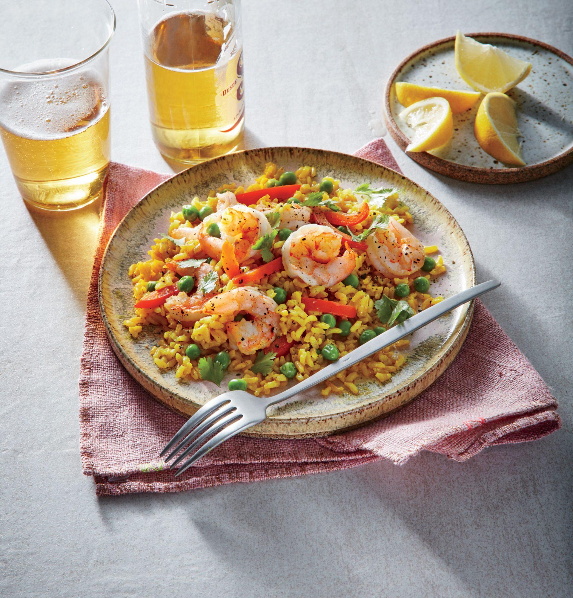 Shortcut Shrimp Paella