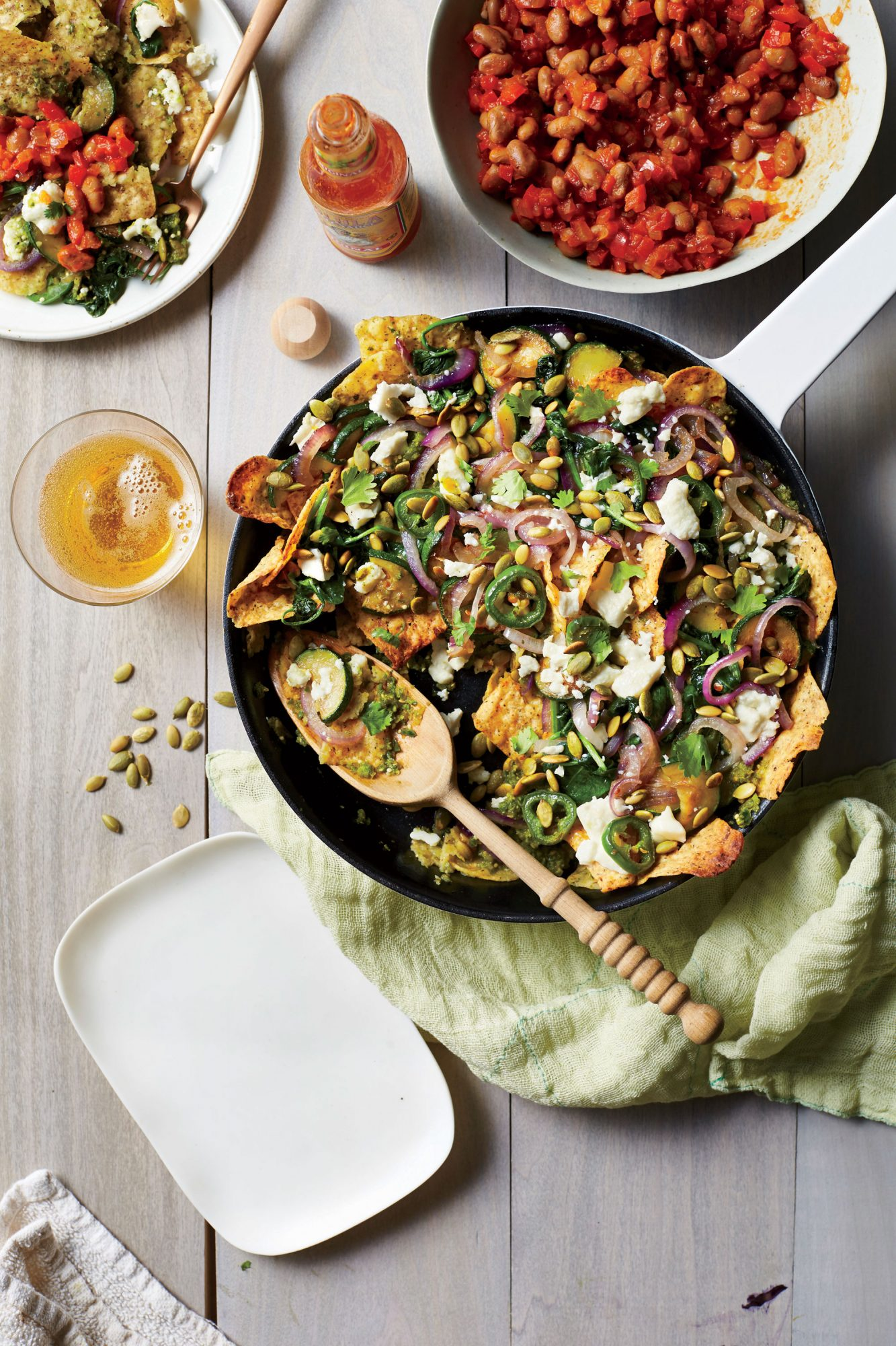 Zucchini and Spinach Chilaquiles image