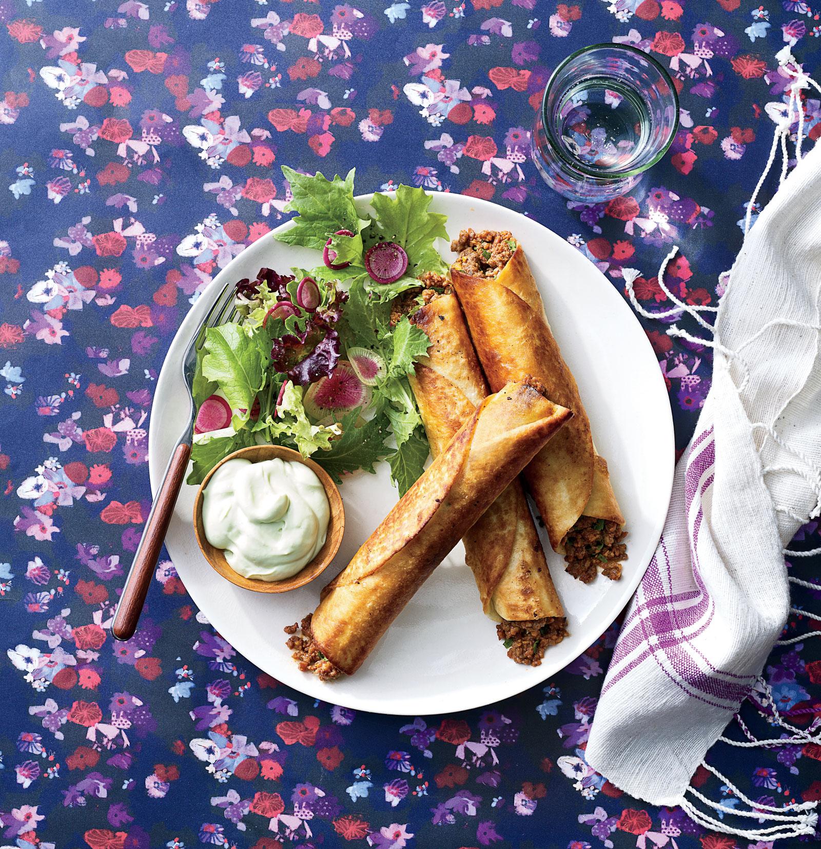 Beef Flautas with Buttermilk-Avocado Crema image