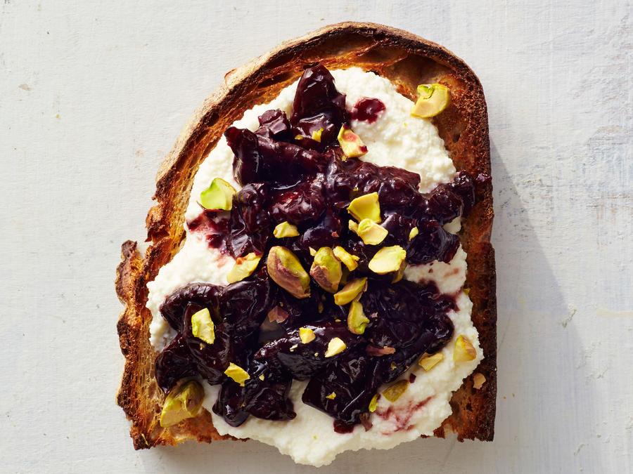 Cherry-Ricotta Toast